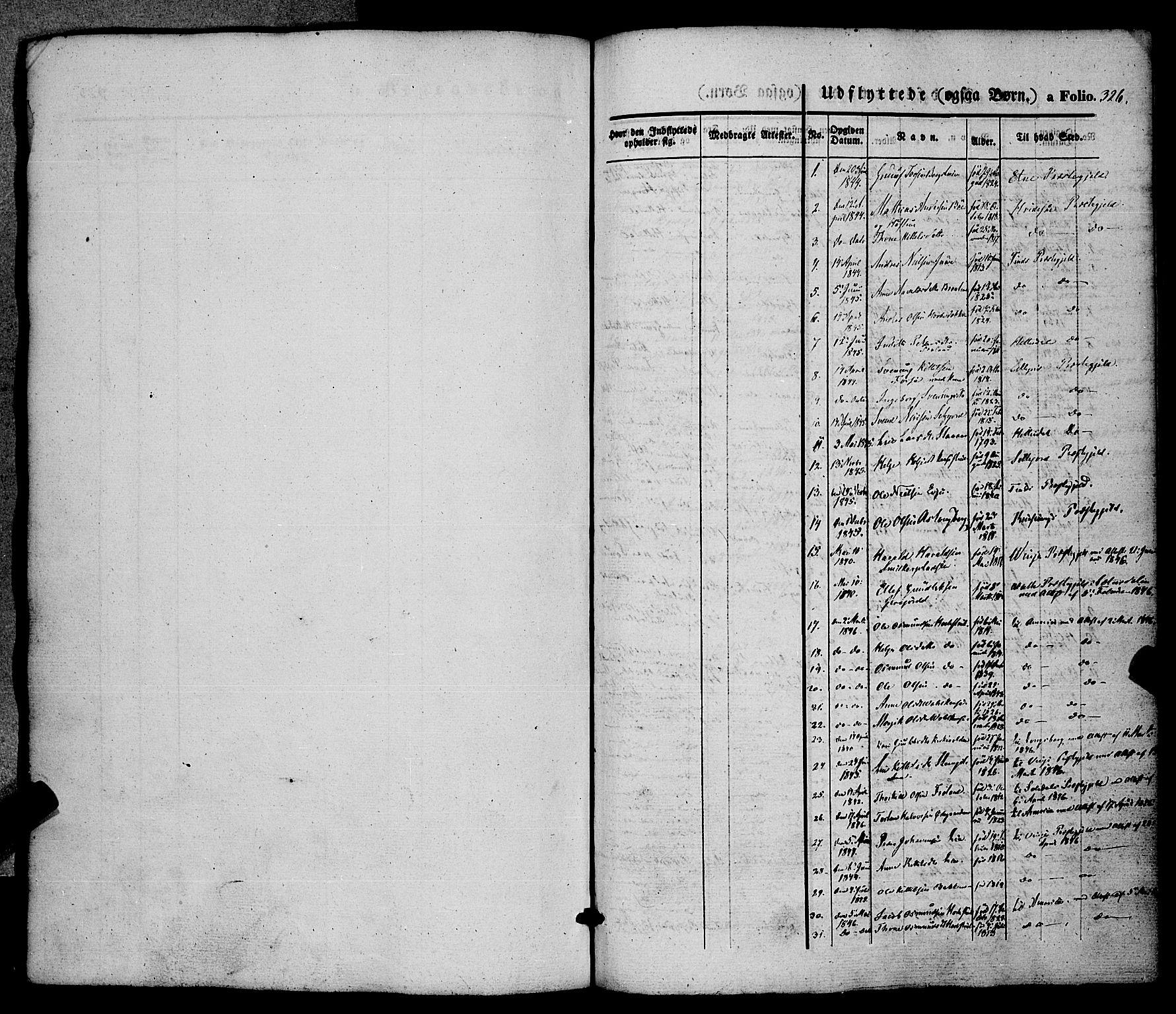 SAKO, Hjartdal kirkebøker, F/Fa/L0008: Ministerialbok nr. I 8, 1844-1859, s. 326