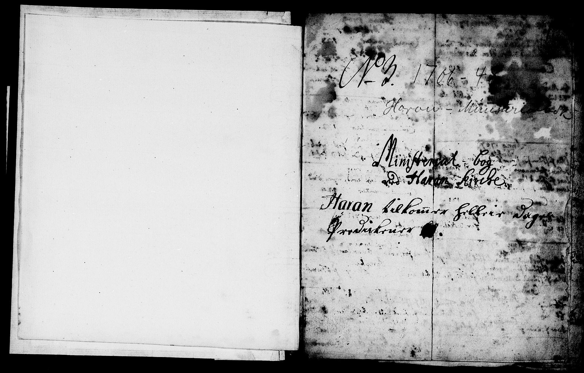 SAT, Ministerialprotokoller, klokkerbøker og fødselsregistre - Nord-Trøndelag, 759/L0525: Ministerialbok nr. 759A01, 1706-1748, s. 1