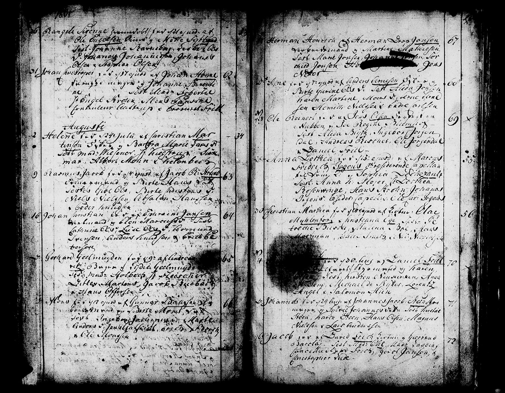 SAB, Domkirken sokneprestembete, H/Haa/L0004: Ministerialbok nr. A 4, 1763-1820, s. 258-259