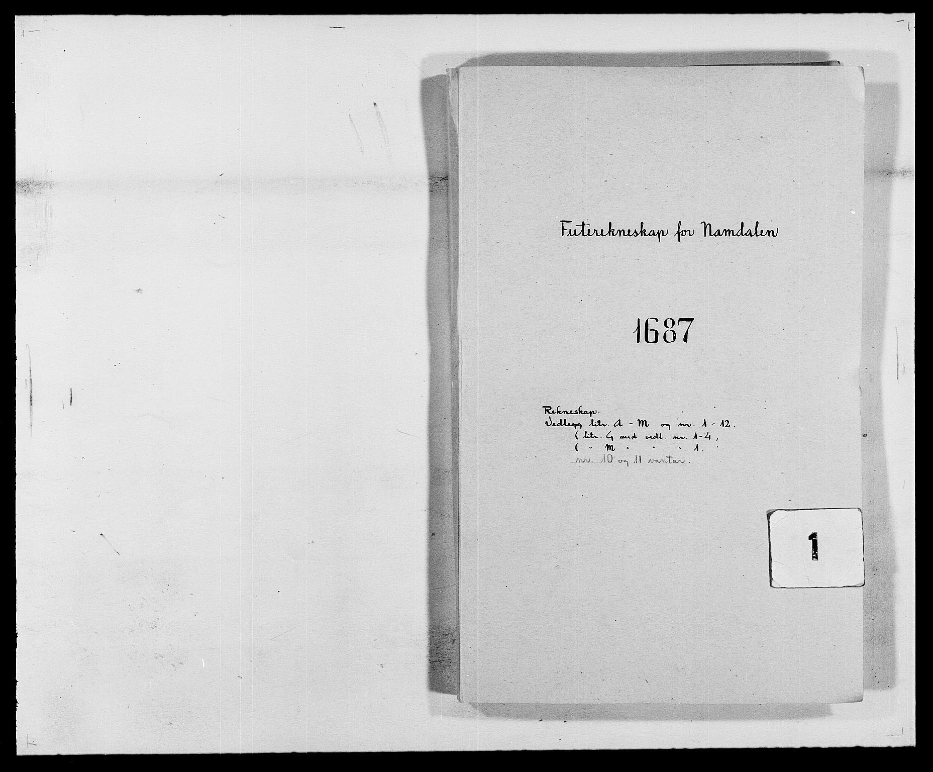 RA, Rentekammeret inntil 1814, Reviderte regnskaper, Fogderegnskap, R64/L4422: Fogderegnskap Namdal, 1687-1689, s. 1