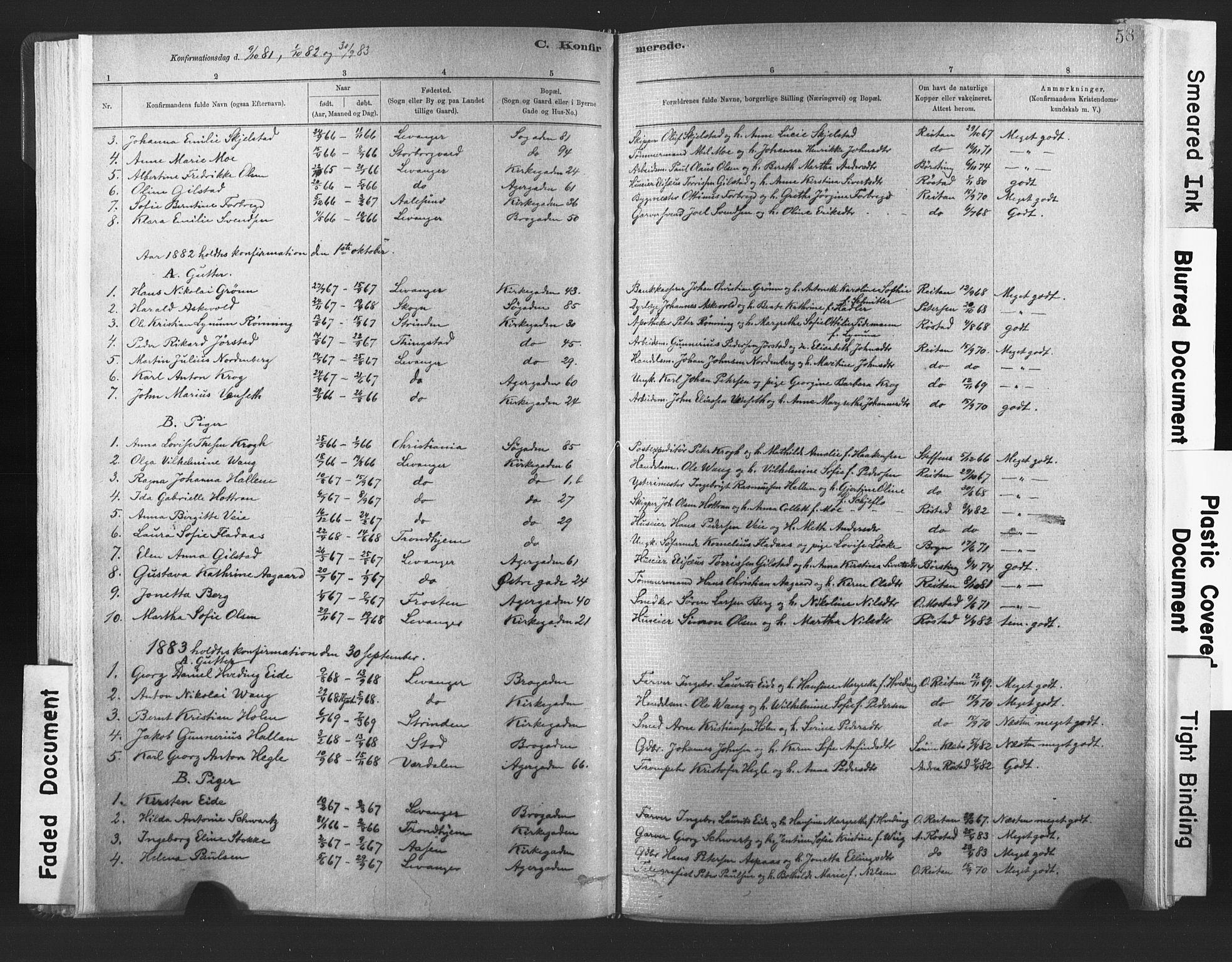 SAT, Ministerialprotokoller, klokkerbøker og fødselsregistre - Nord-Trøndelag, 720/L0189: Ministerialbok nr. 720A05, 1880-1911, s. 58