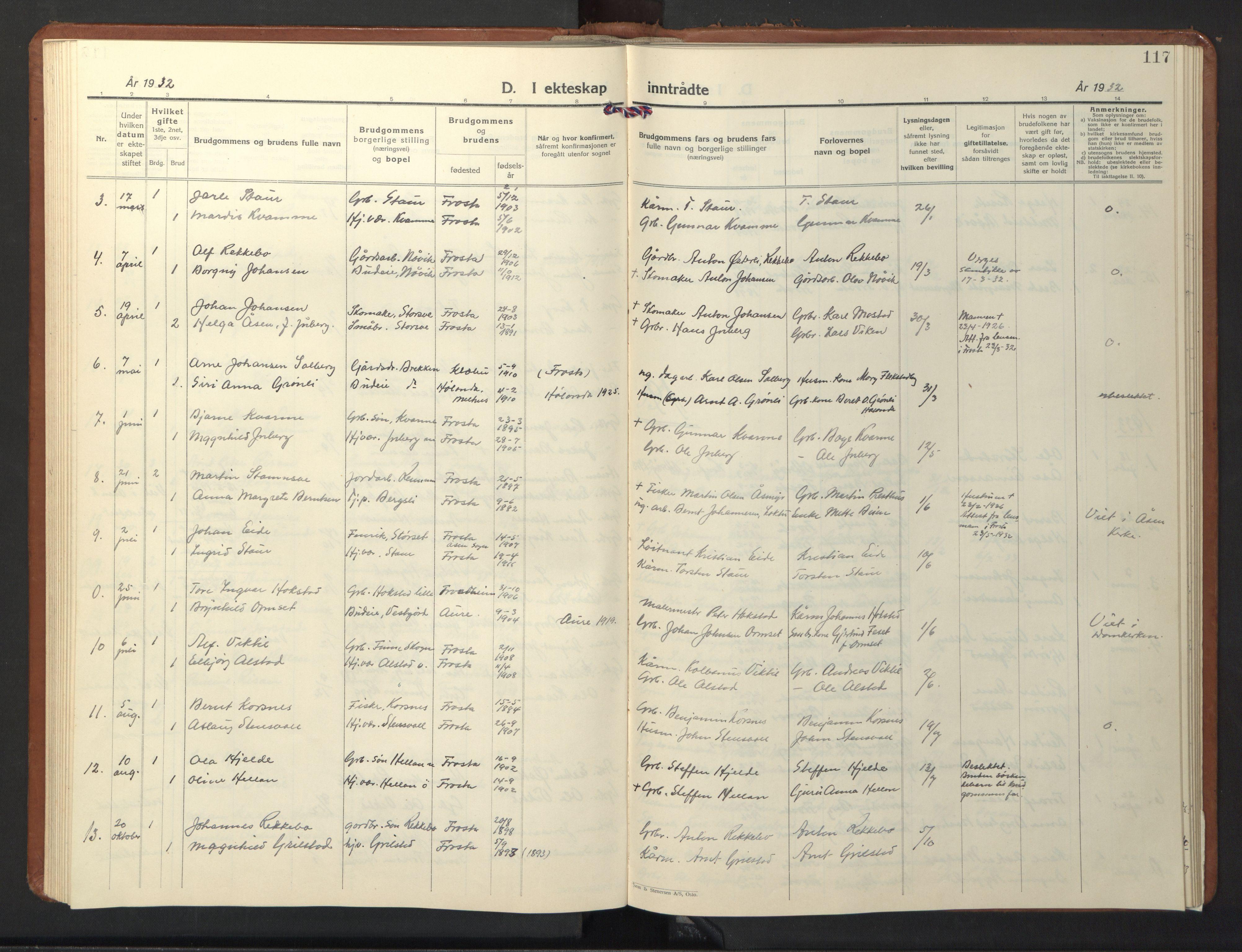 SAT, Ministerialprotokoller, klokkerbøker og fødselsregistre - Nord-Trøndelag, 713/L0125: Klokkerbok nr. 713C02, 1931-1941, s. 117