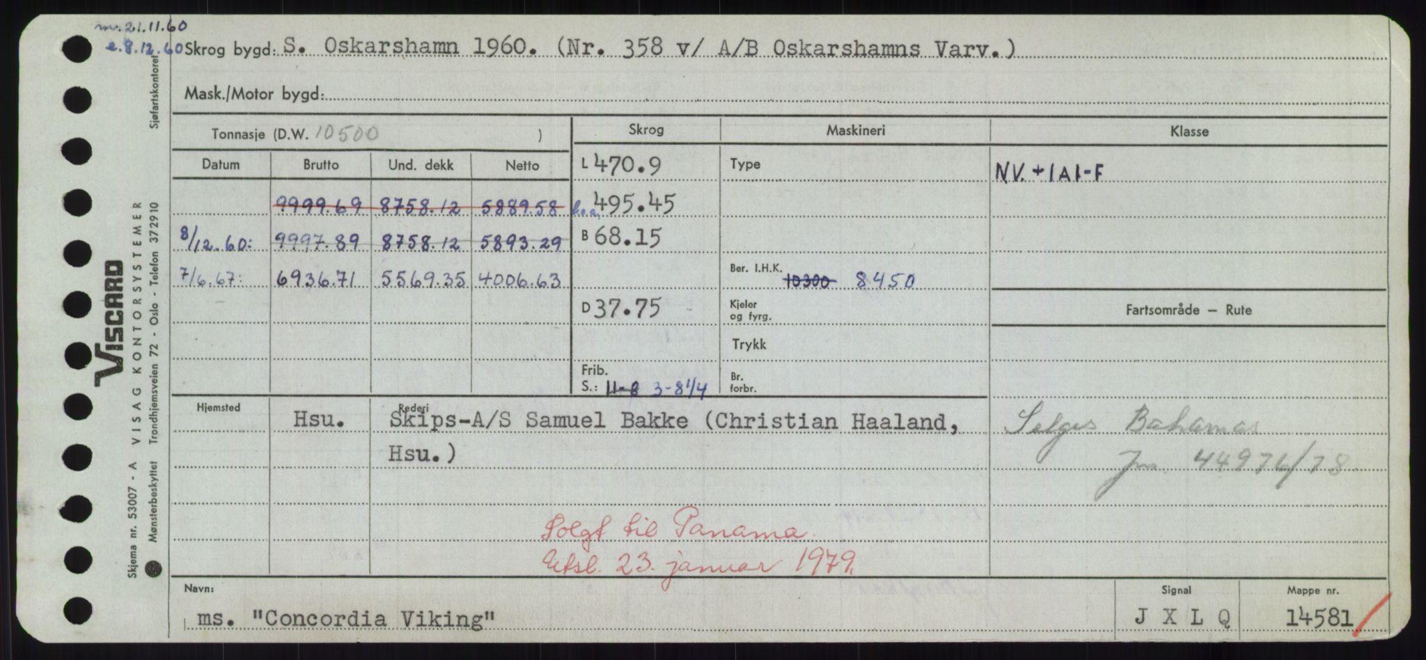 RA, Sjøfartsdirektoratet med forløpere, Skipsmålingen, H/Hd/L0008: Fartøy, C-D, s. 183