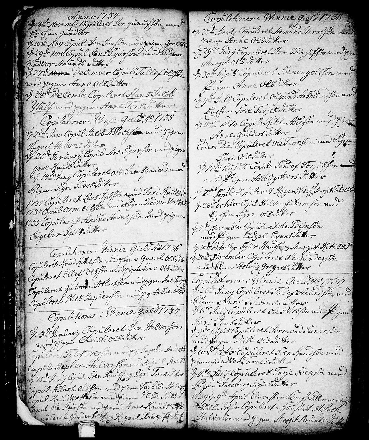 SAKO, Vinje kirkebøker, F/Fa/L0001: Ministerialbok nr. I 1, 1717-1766, s. 34
