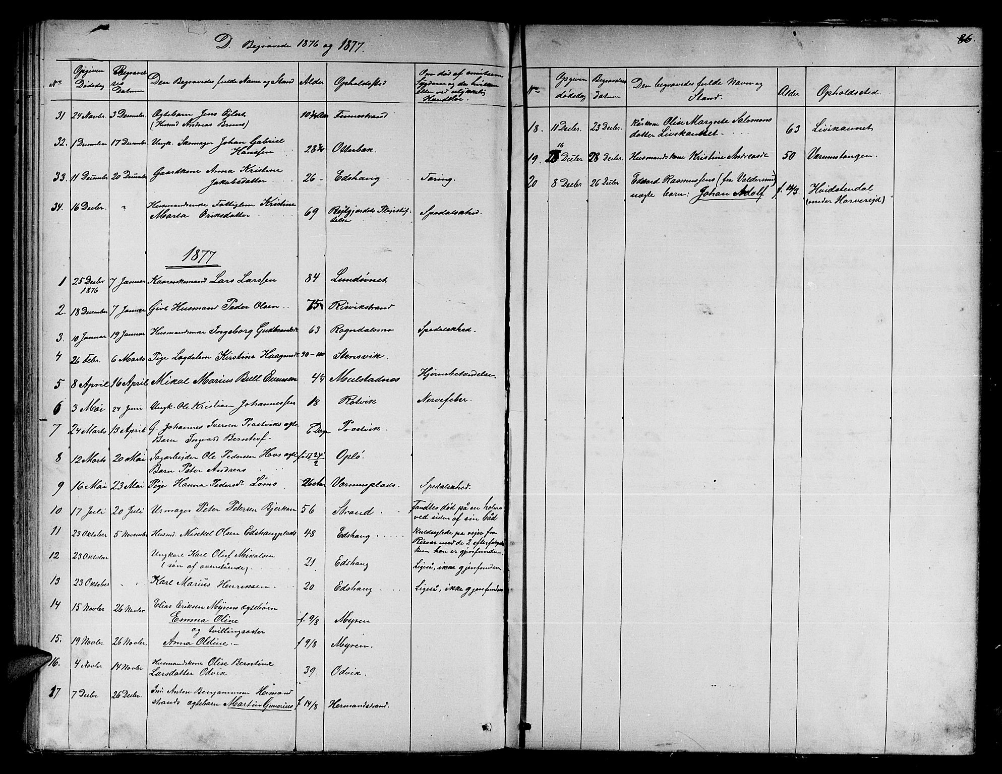 SAT, Ministerialprotokoller, klokkerbøker og fødselsregistre - Nord-Trøndelag, 780/L0650: Klokkerbok nr. 780C02, 1866-1884, s. 86