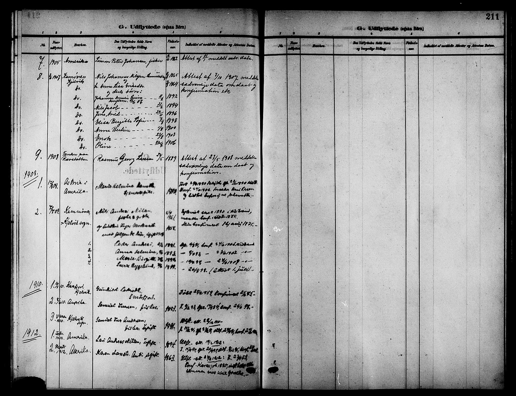 SATØ, Kistrand/Porsanger sokneprestembete, H/Hb/L0006.klokk: Klokkerbok nr. 6, 1905-1917, s. 211