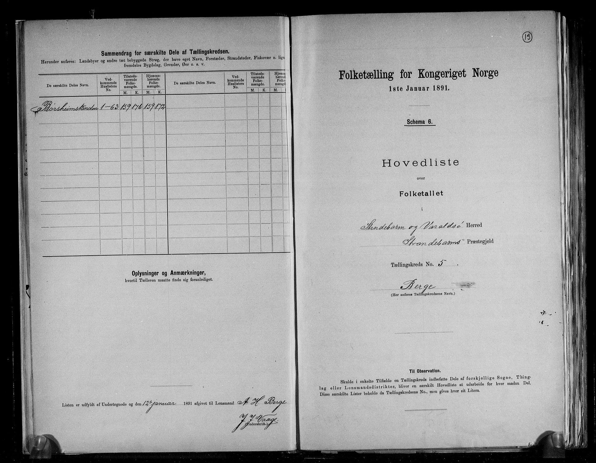RA, Folketelling 1891 for 1226 Strandebarm og Varaldsøy herred, 1891, s. 14