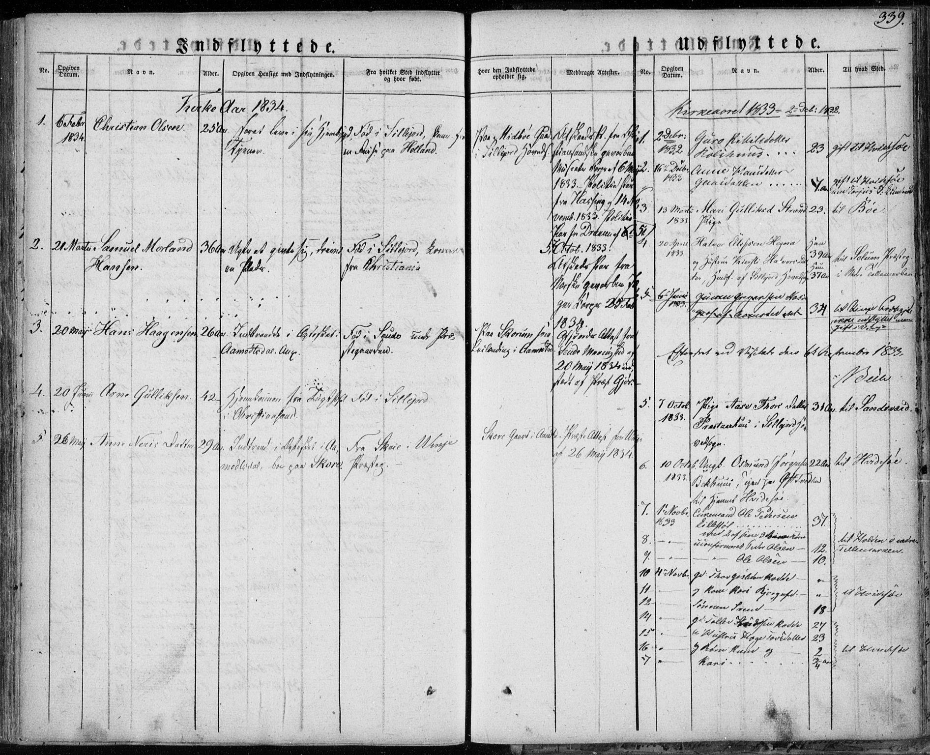 SAKO, Seljord kirkebøker, F/Fa/L0011: Ministerialbok nr. I 11, 1831-1849, s. 339