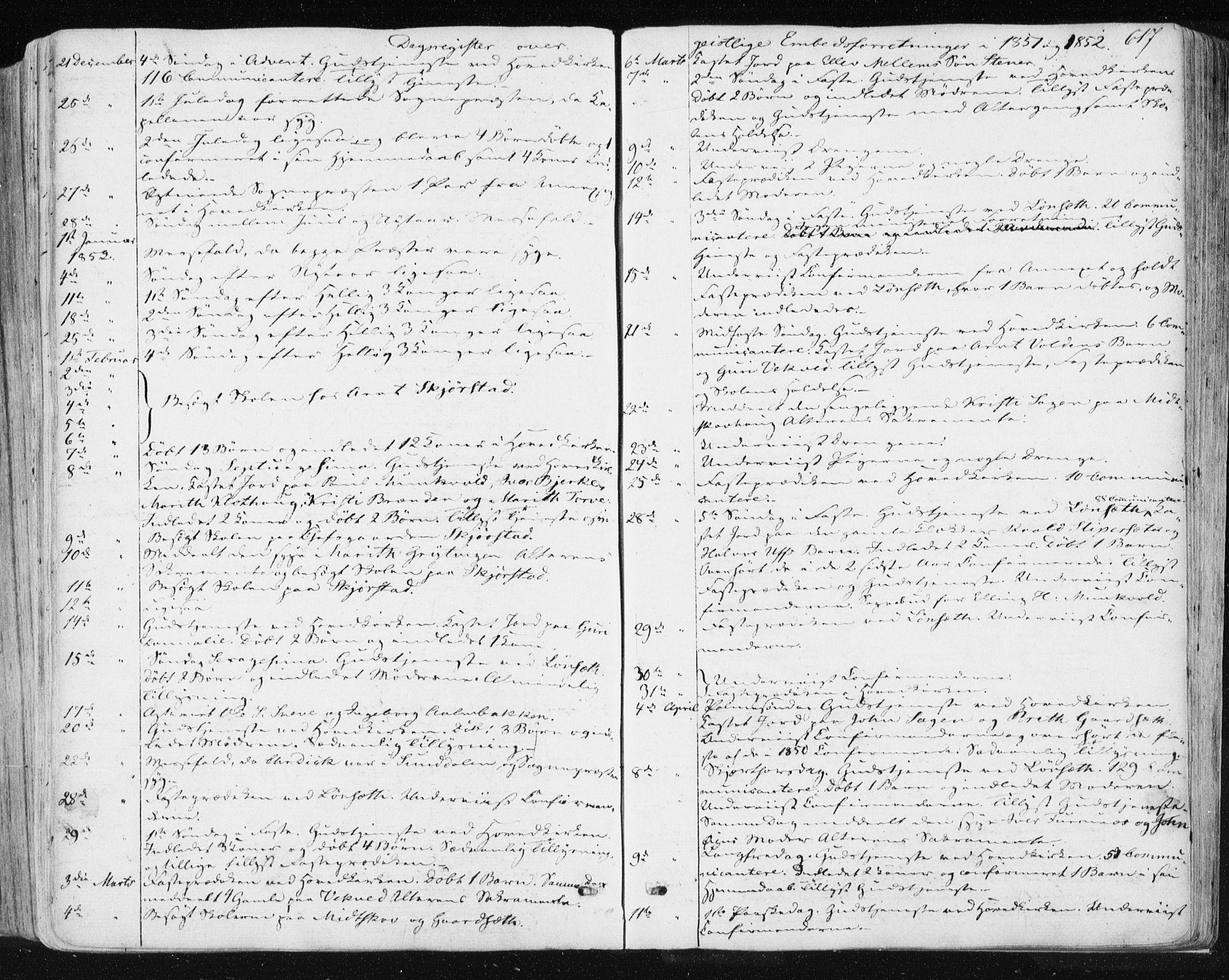 SAT, Ministerialprotokoller, klokkerbøker og fødselsregistre - Sør-Trøndelag, 678/L0899: Ministerialbok nr. 678A08, 1848-1872, s. 617