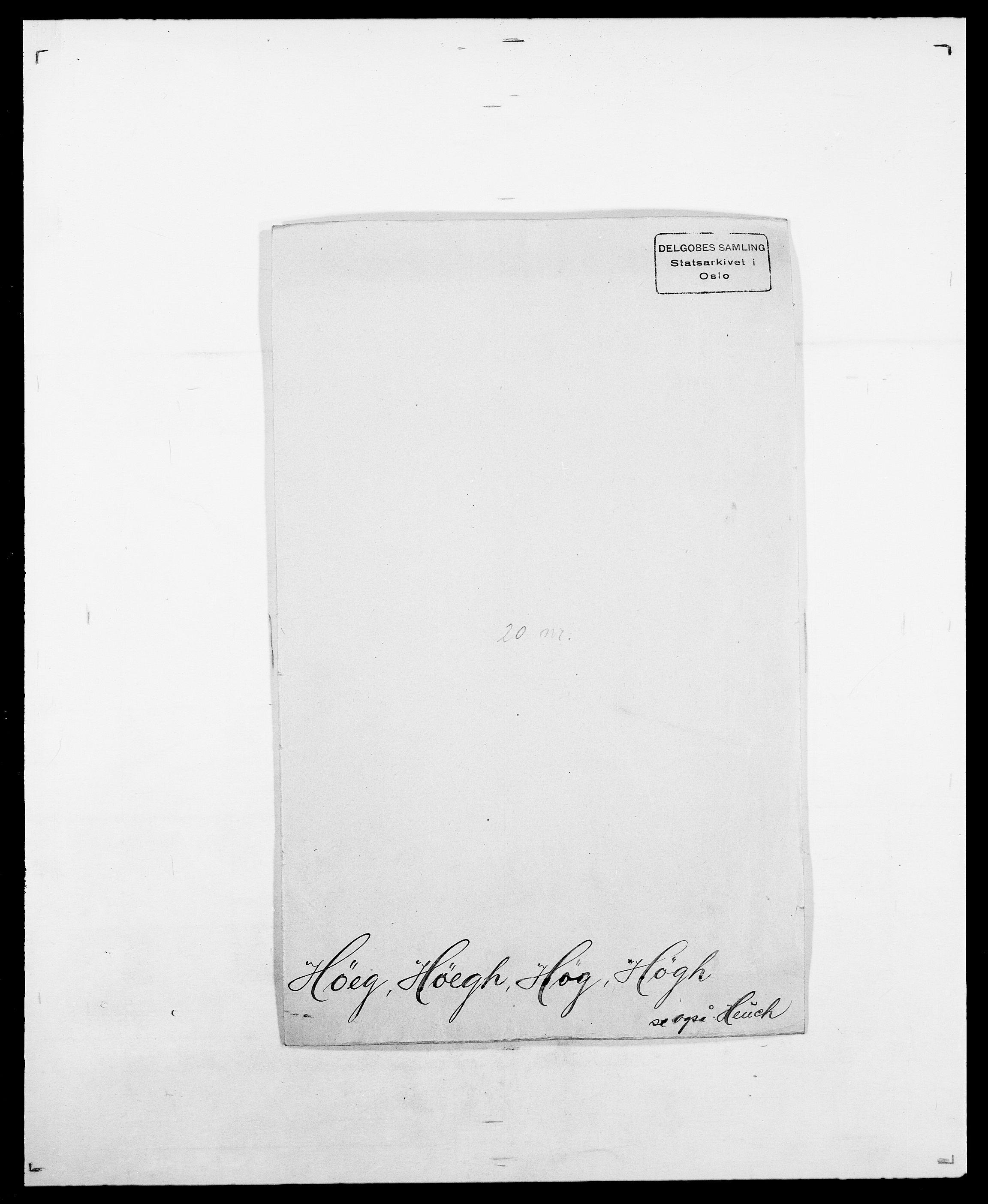 SAO, Delgobe, Charles Antoine - samling, D/Da/L0019: van der Hude - Joys, s. 313