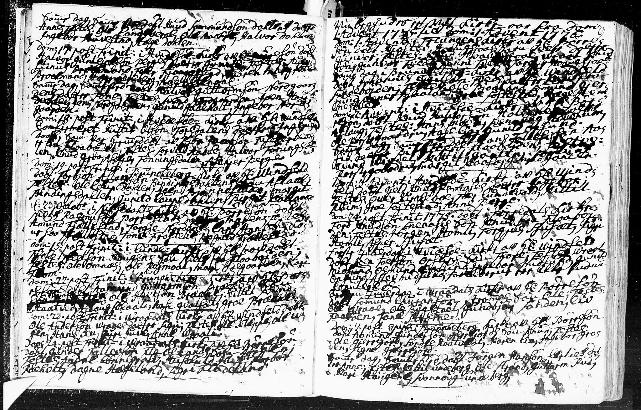 SAKO, Kviteseid kirkebøker, F/Fa/L0002: Ministerialbok nr. I 2, 1773-1786, s. 9