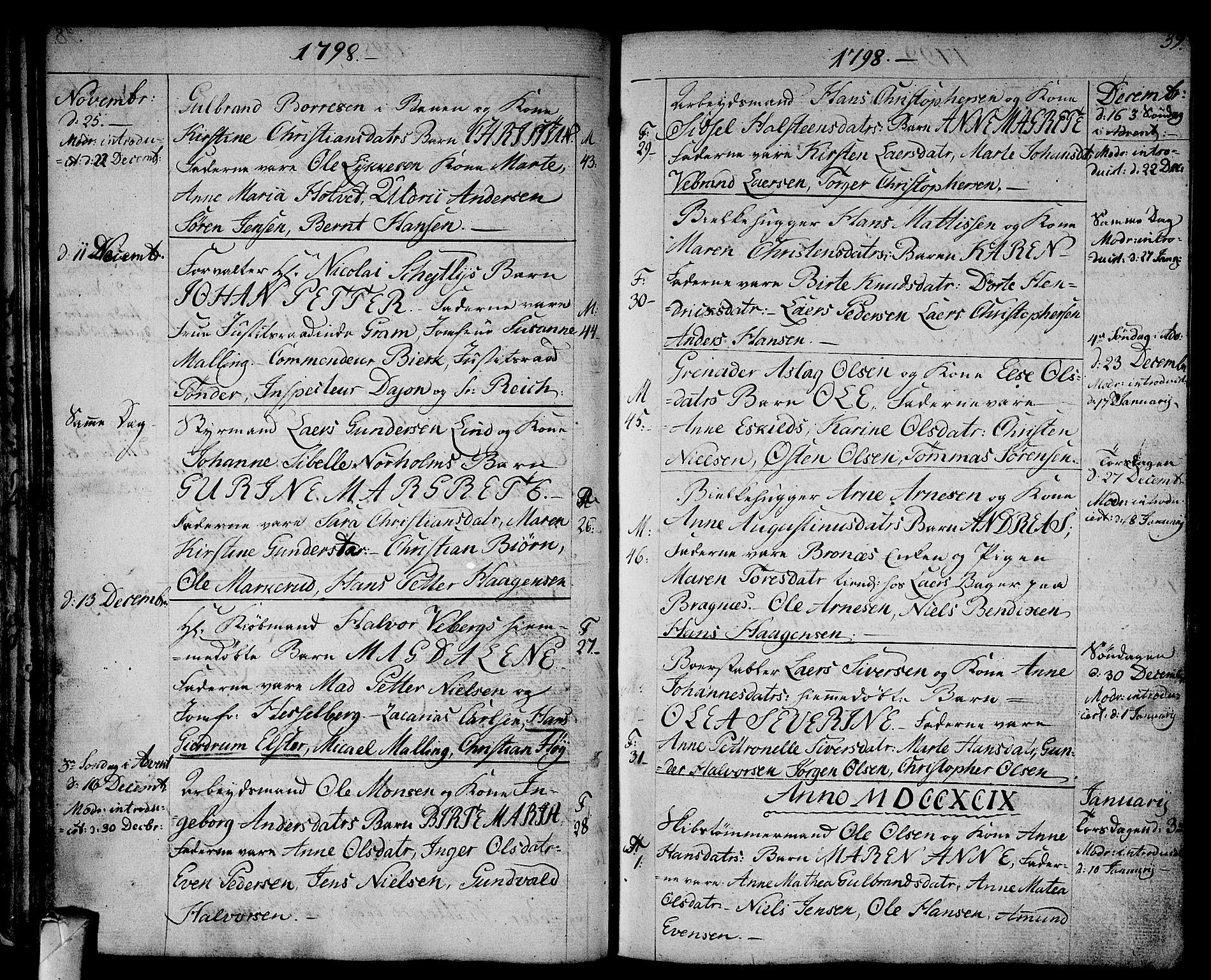 SAKO, Strømsø kirkebøker, F/Fa/L0010: Ministerialbok nr. I 10, 1792-1822, s. 39