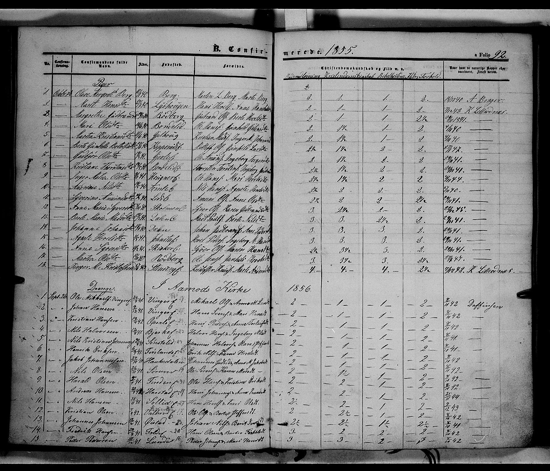 SAH, Land prestekontor, Ministerialbok nr. 10, 1847-1859, s. 92