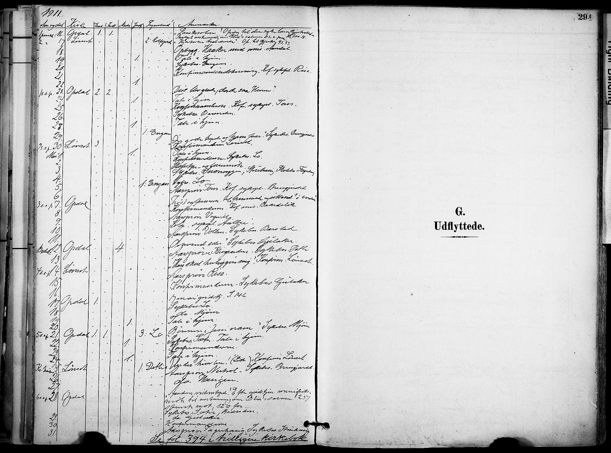 SAT, Ministerialprotokoller, klokkerbøker og fødselsregistre - Sør-Trøndelag, 678/L0902: Ministerialbok nr. 678A11, 1895-1911, s. 294