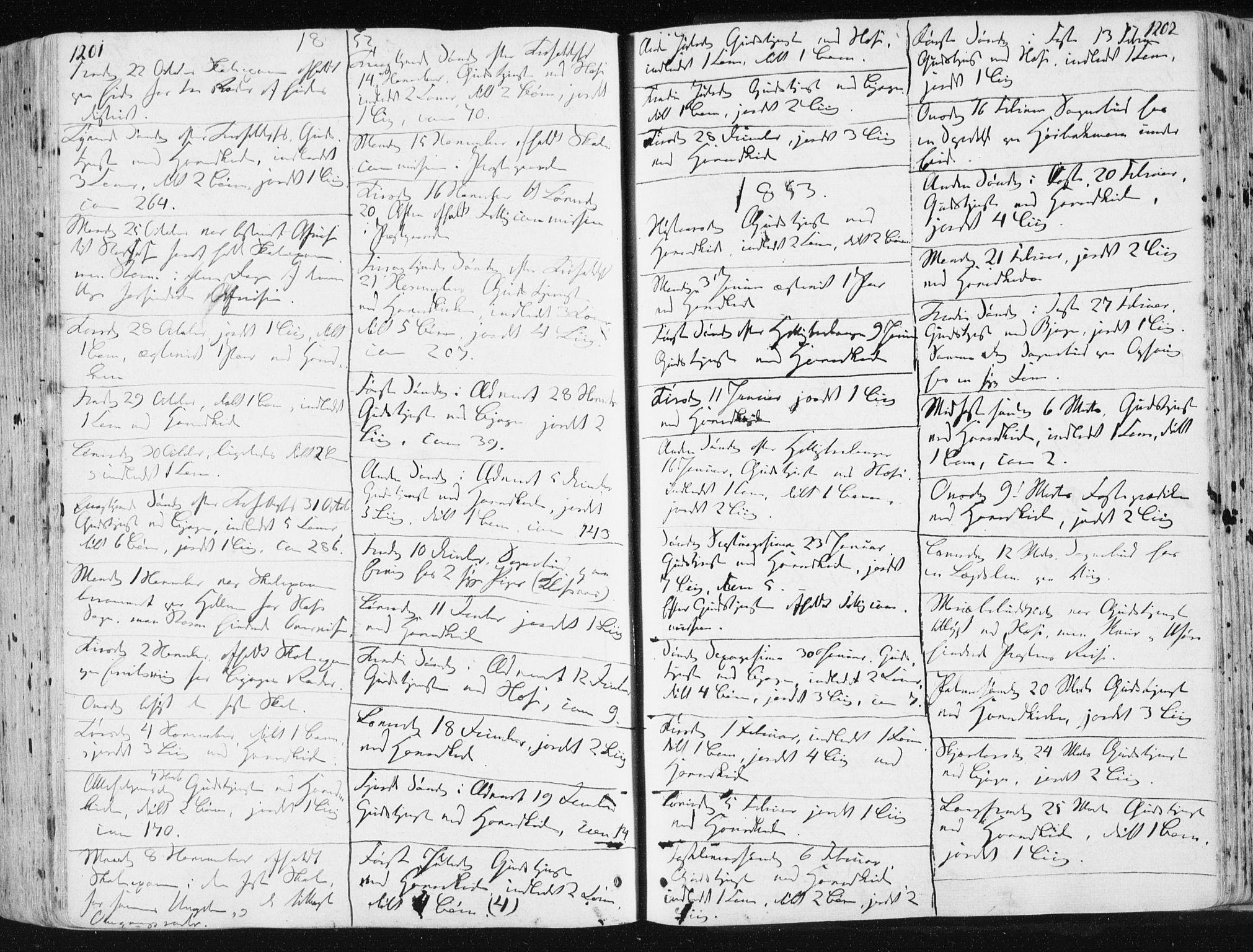 SAT, Ministerialprotokoller, klokkerbøker og fødselsregistre - Sør-Trøndelag, 659/L0736: Ministerialbok nr. 659A06, 1842-1856, s. 1201-1202