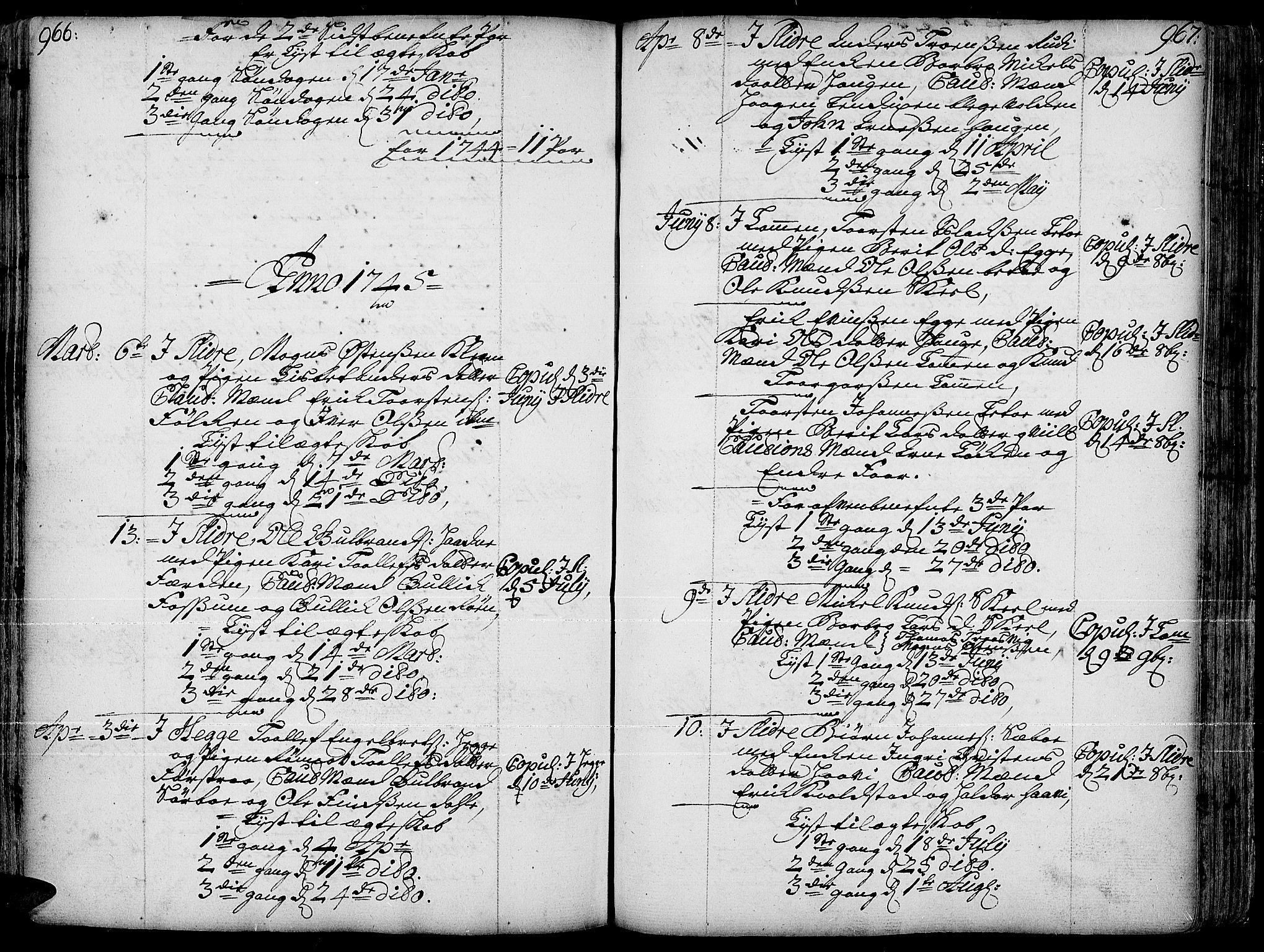 SAH, Slidre prestekontor, Ministerialbok nr. 1, 1724-1814, s. 966-967