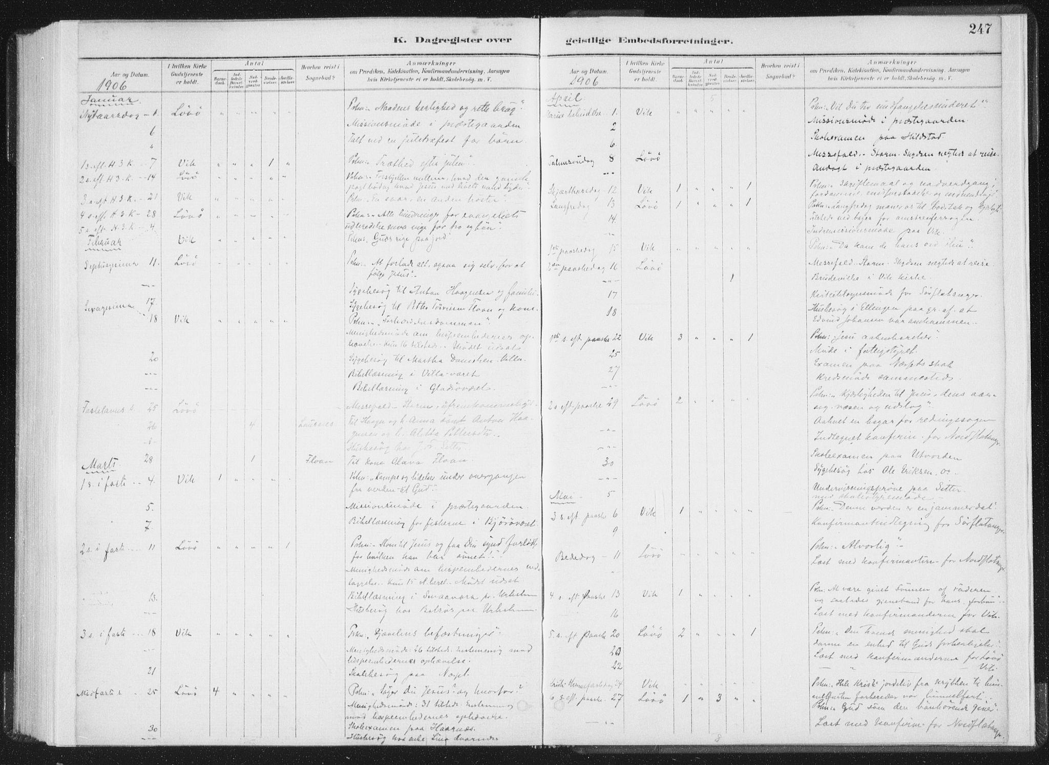 SAT, Ministerialprotokoller, klokkerbøker og fødselsregistre - Nord-Trøndelag, 771/L0597: Ministerialbok nr. 771A04, 1885-1910, s. 247