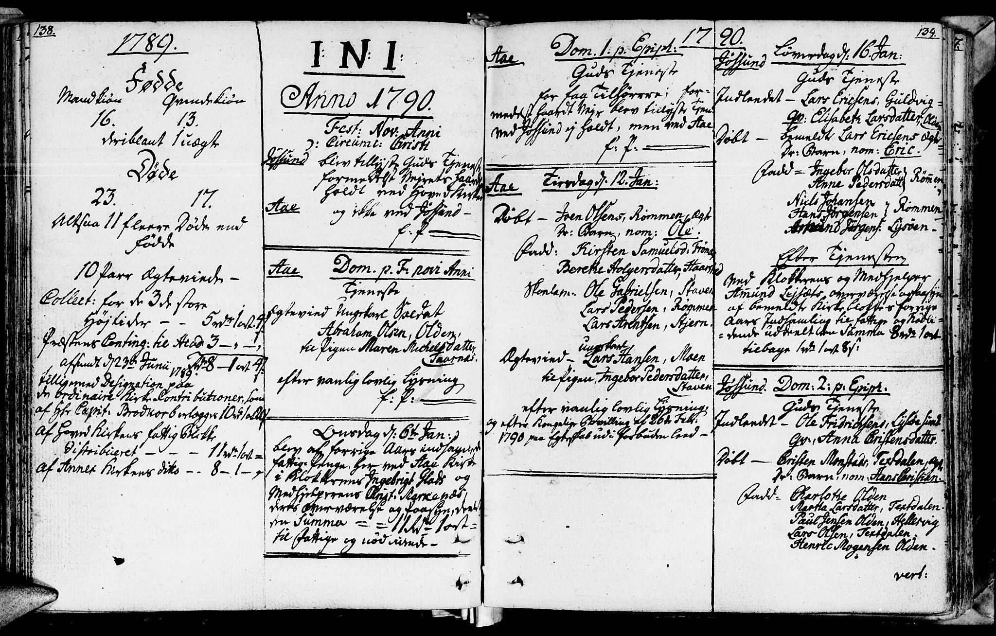 SAT, Ministerialprotokoller, klokkerbøker og fødselsregistre - Sør-Trøndelag, 655/L0673: Ministerialbok nr. 655A02, 1780-1801, s. 138-139