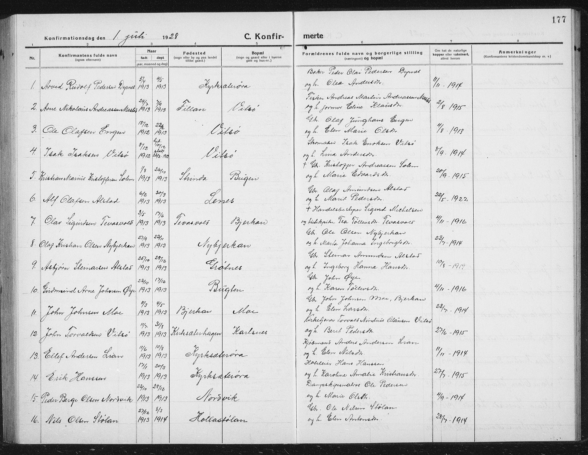 SAT, Ministerialprotokoller, klokkerbøker og fødselsregistre - Sør-Trøndelag, 630/L0506: Klokkerbok nr. 630C04, 1914-1933, s. 177