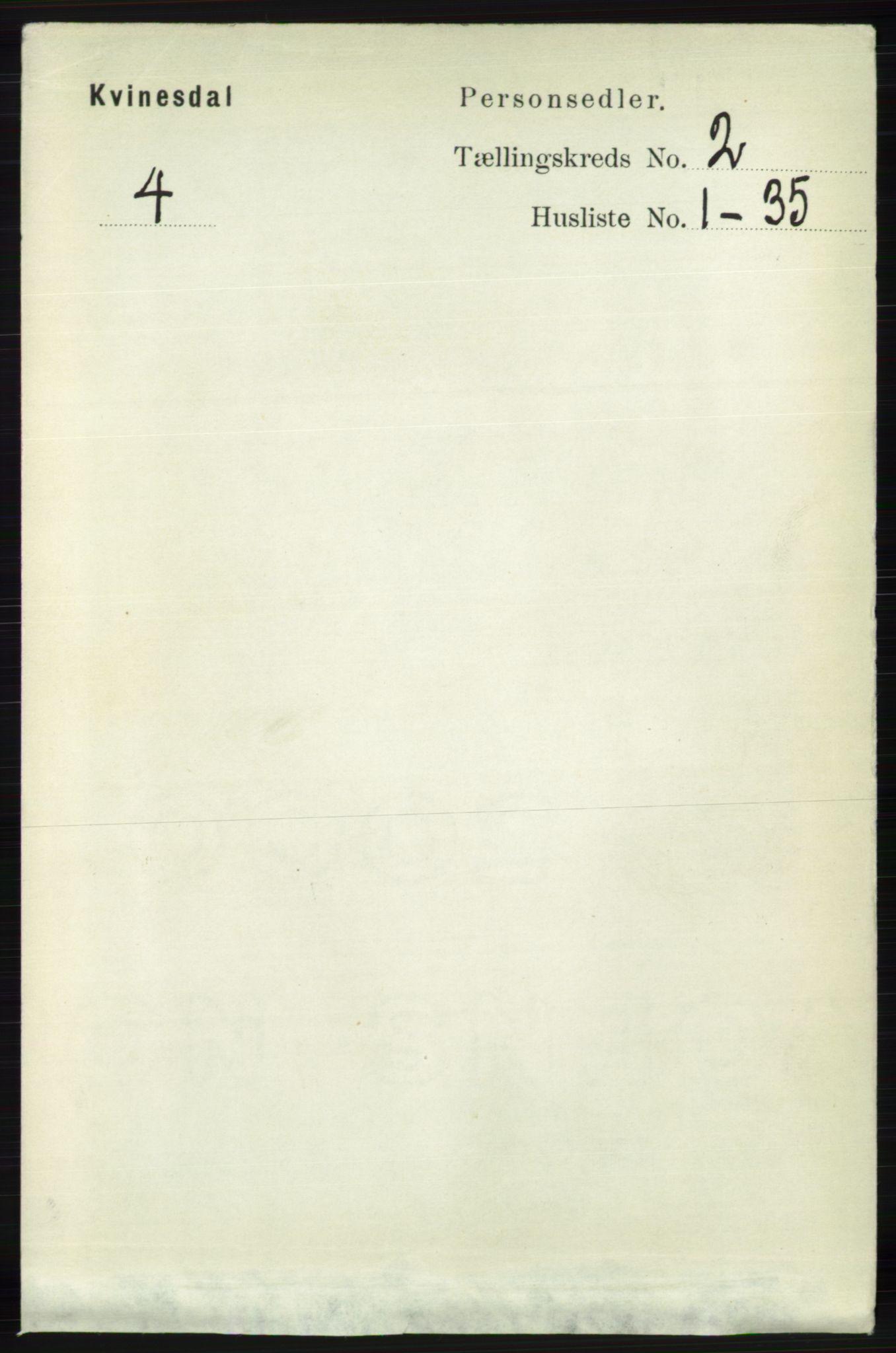 RA, Folketelling 1891 for 1037 Kvinesdal herred, 1891, s. 370