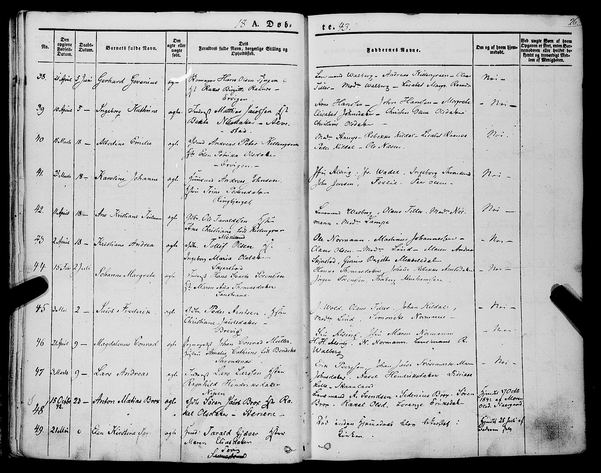SATØ, Trondenes sokneprestkontor, H/Ha/L0009kirke: Ministerialbok nr. 9, 1841-1852, s. 26