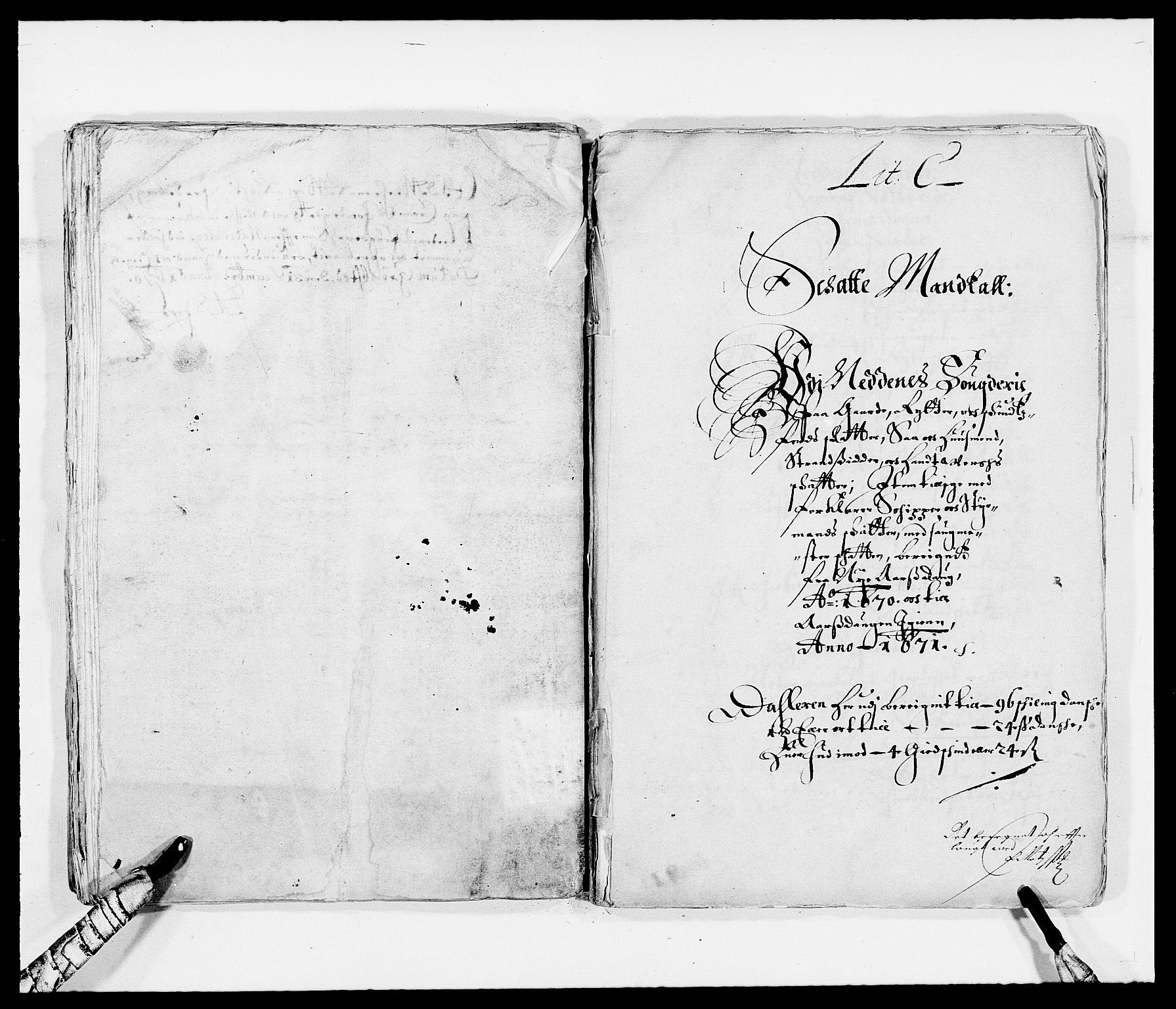 RA, Rentekammeret inntil 1814, Reviderte regnskaper, Fogderegnskap, R39/L2299: Fogderegnskap Nedenes, 1670-1671, s. 54