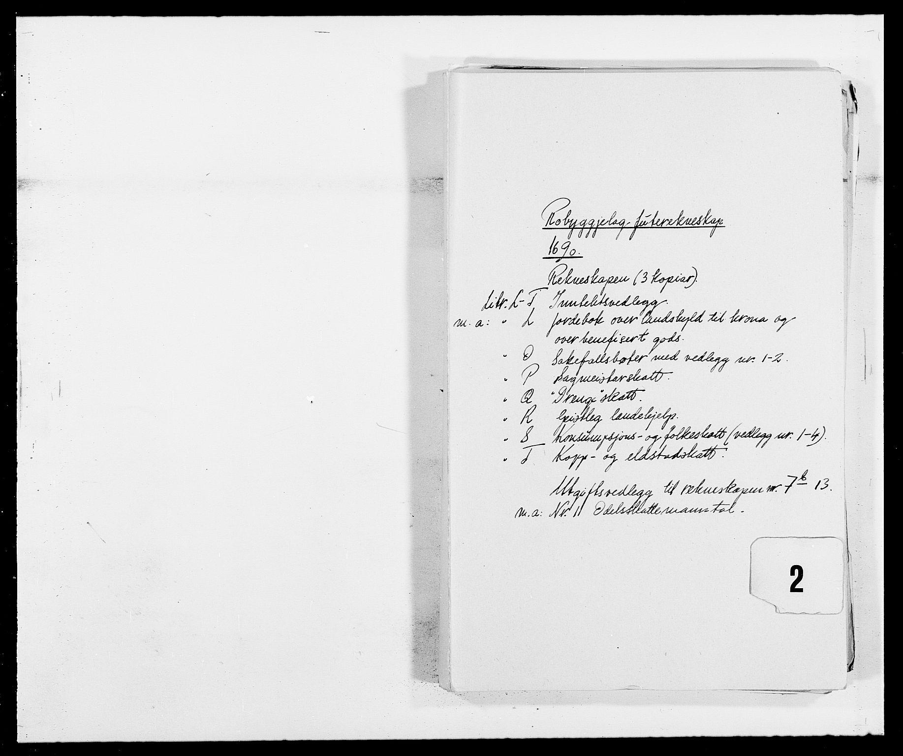RA, Rentekammeret inntil 1814, Reviderte regnskaper, Fogderegnskap, R40/L2442: Fogderegnskap Råbyggelag, 1689-1690, s. 134