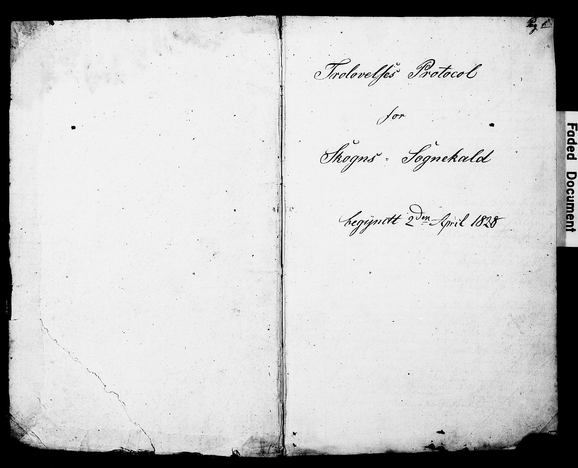 SAT, Ministerialprotokoller, klokkerbøker og fødselsregistre - Nord-Trøndelag, 717/L0160: Forlovererklæringer nr. 717A10, 1828-1850, s. 0-1