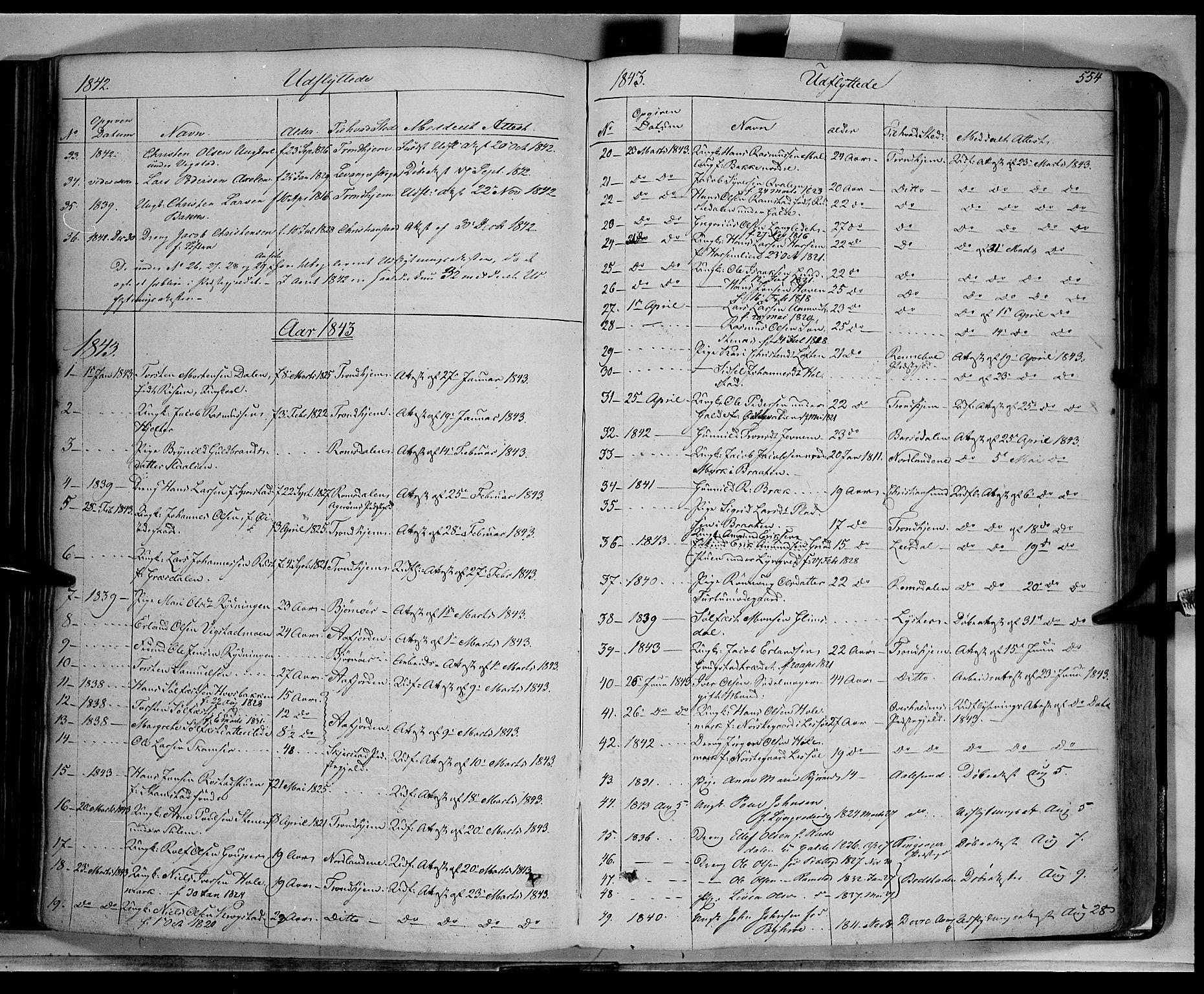 SAH, Lom prestekontor, K/L0006: Ministerialbok nr. 6B, 1837-1863, s. 554