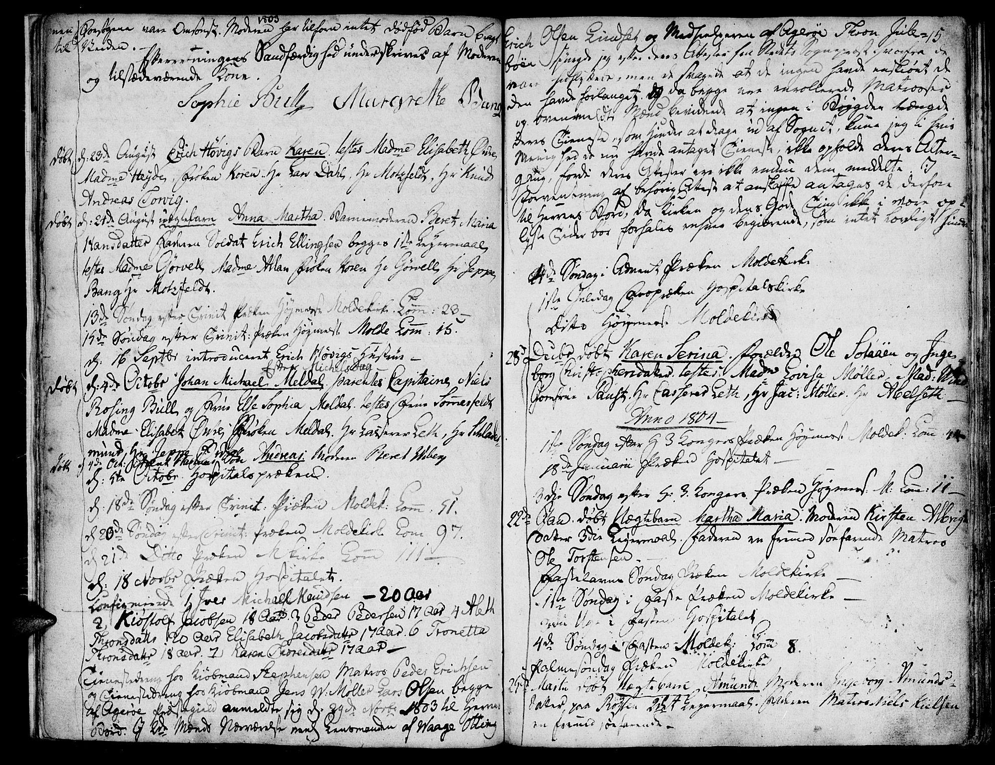 SAT, Ministerialprotokoller, klokkerbøker og fødselsregistre - Møre og Romsdal, 558/L0687: Ministerialbok nr. 558A01, 1798-1818, s. 15