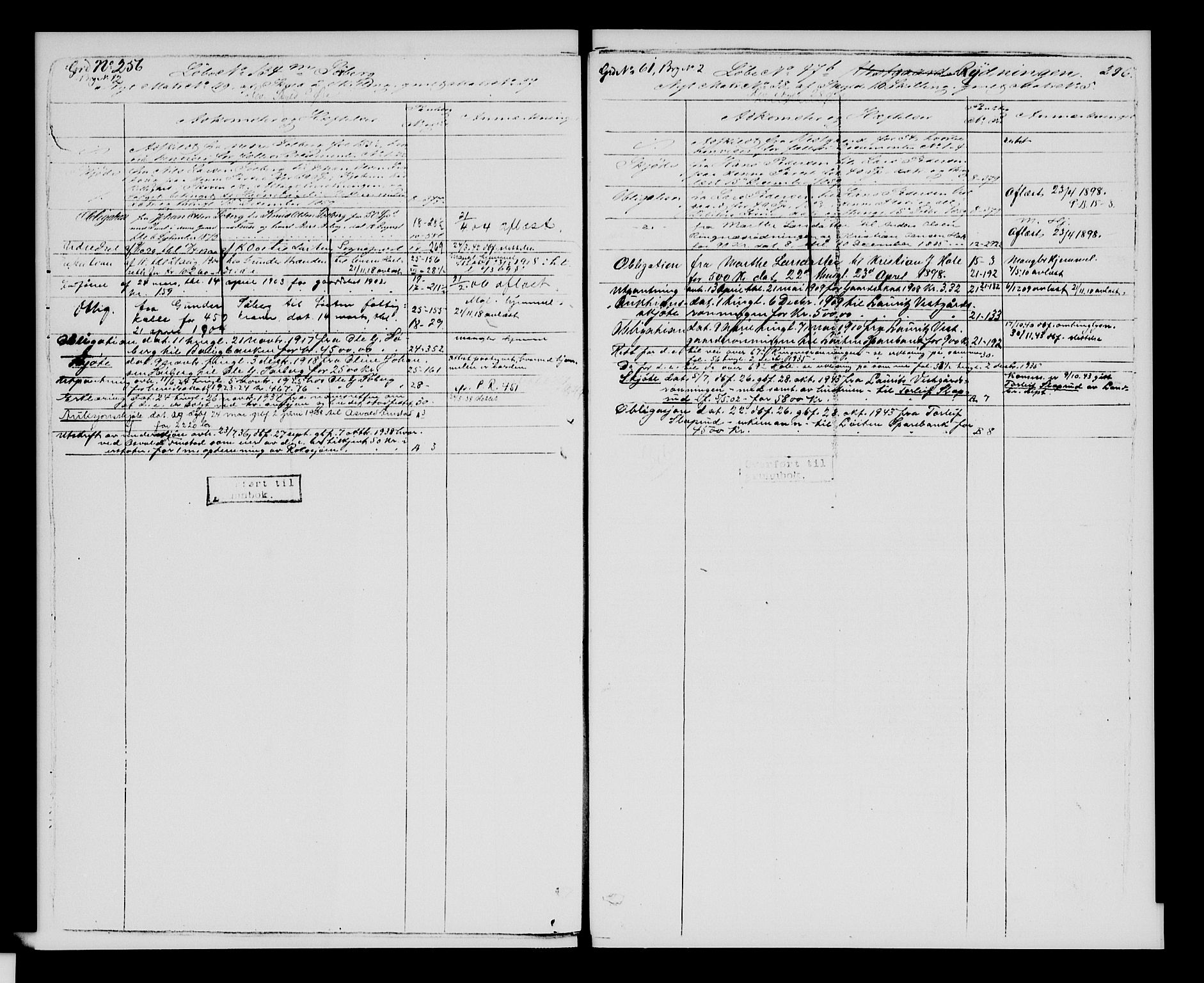 SAH, Sør-Hedmark sorenskriveri, H/Ha/Hac/Hacc/L0001: Panteregister nr. 3.1, 1855-1943, s. 296