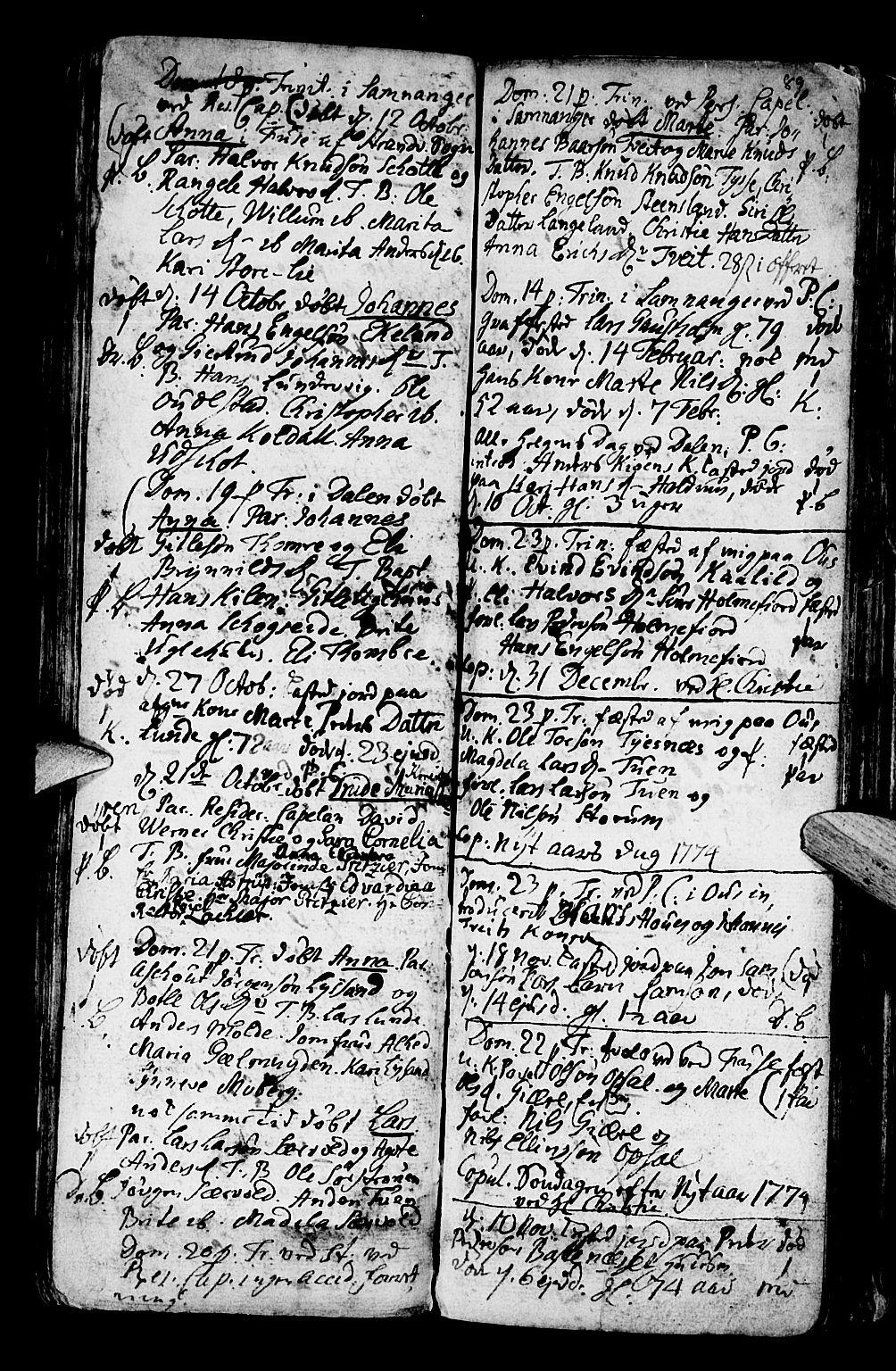 SAB, Os sokneprestembete*, Ministerialbok nr. A 9, 1766-1779, s. 89
