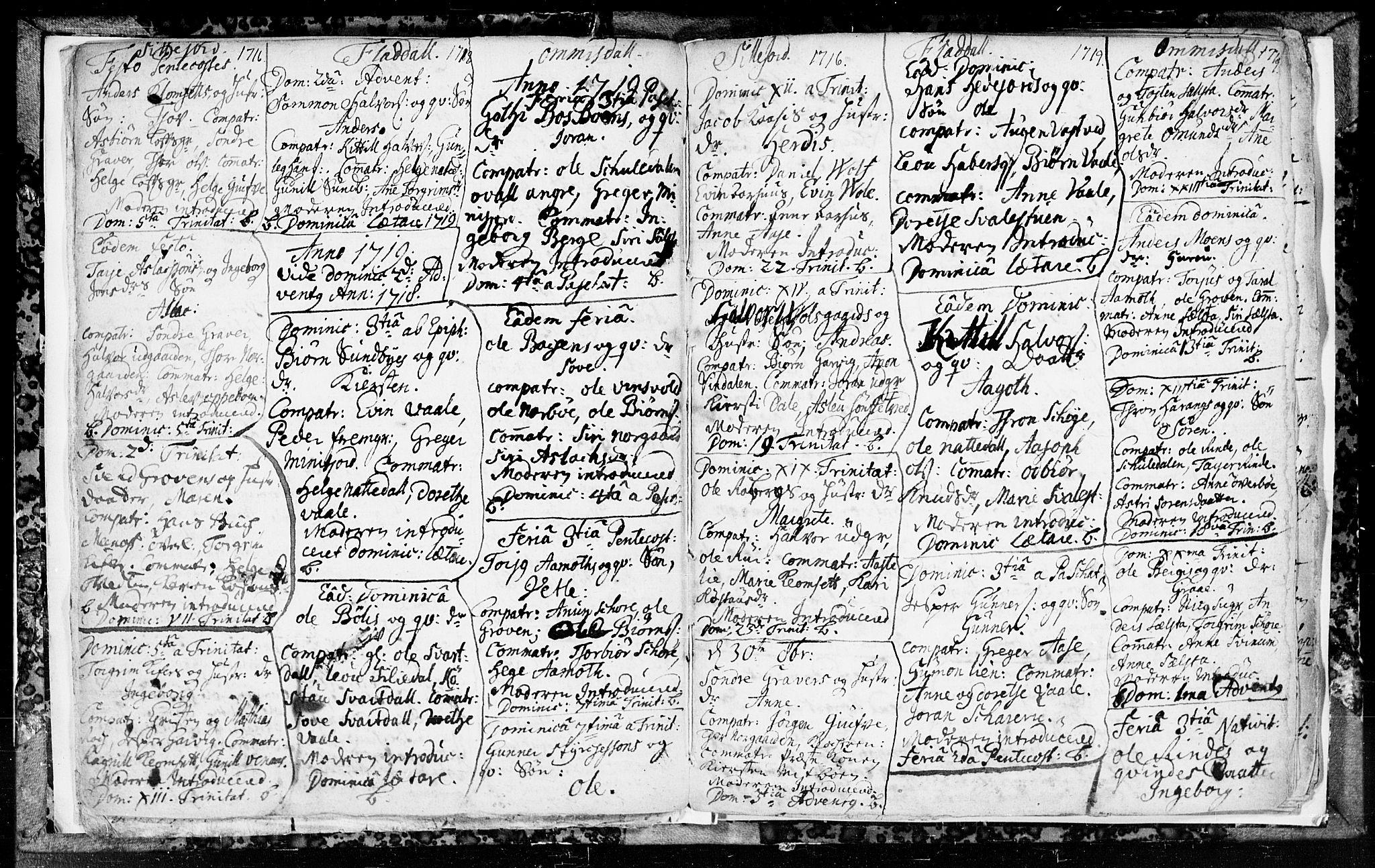 SAKO, Seljord kirkebøker, F/Fa/L0003: Ministerialbok nr. I 3, 1714-1725, s. 8