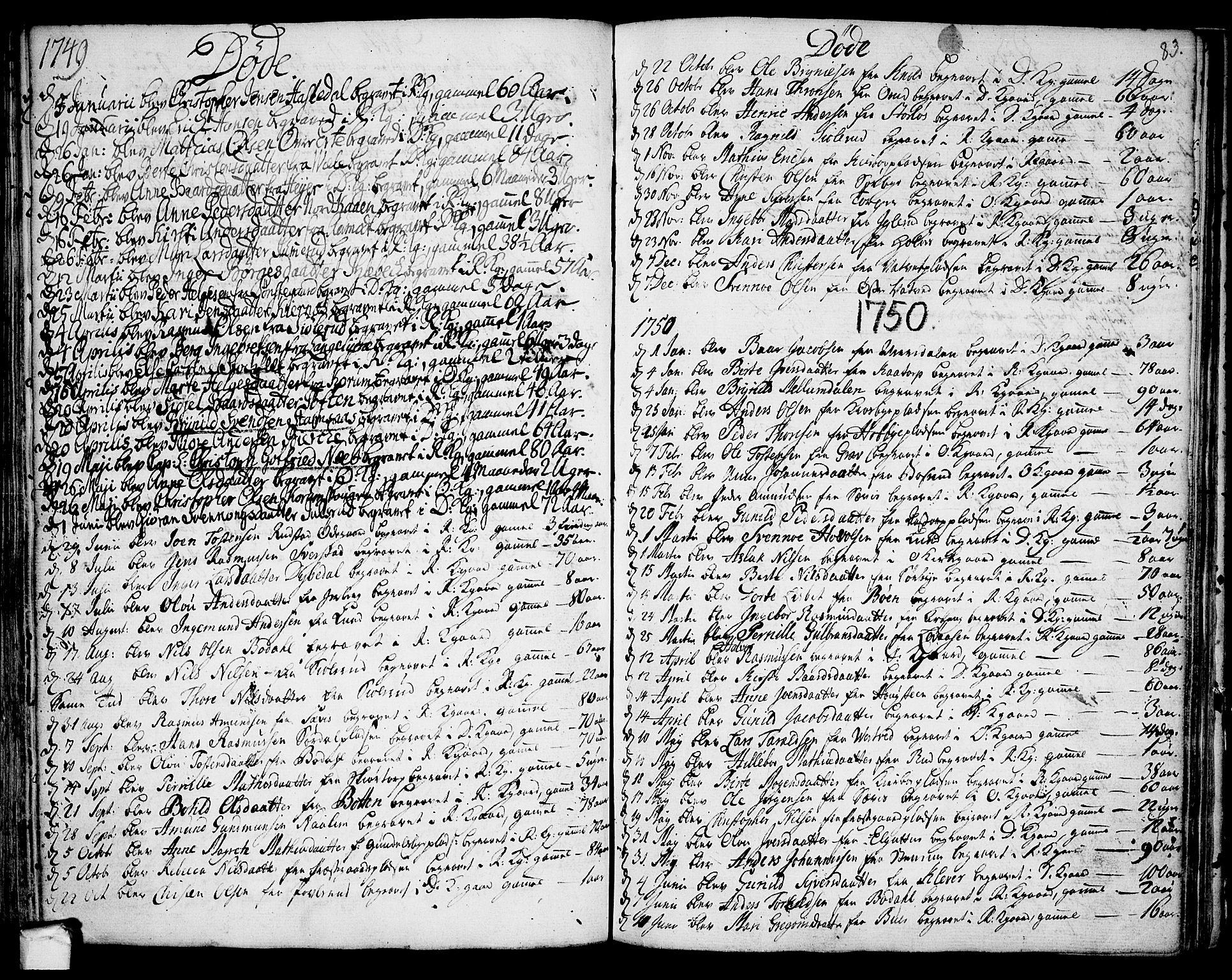 SAO, Rakkestad prestekontor Kirkebøker, F/Fa/L0002: Ministerialbok nr. I 2, 1741-1751, s. 83