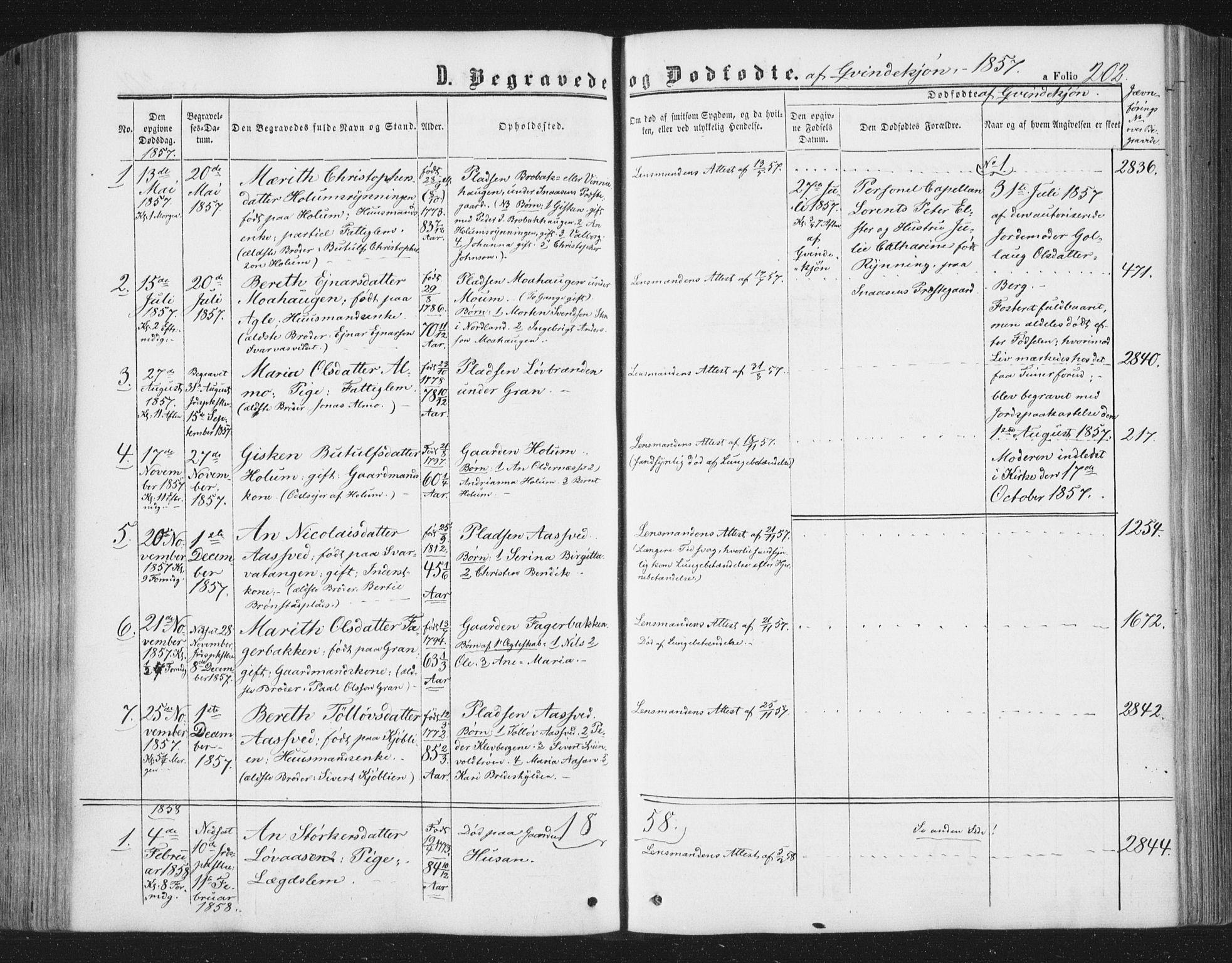 SAT, Ministerialprotokoller, klokkerbøker og fødselsregistre - Nord-Trøndelag, 749/L0472: Ministerialbok nr. 749A06, 1857-1873, s. 202