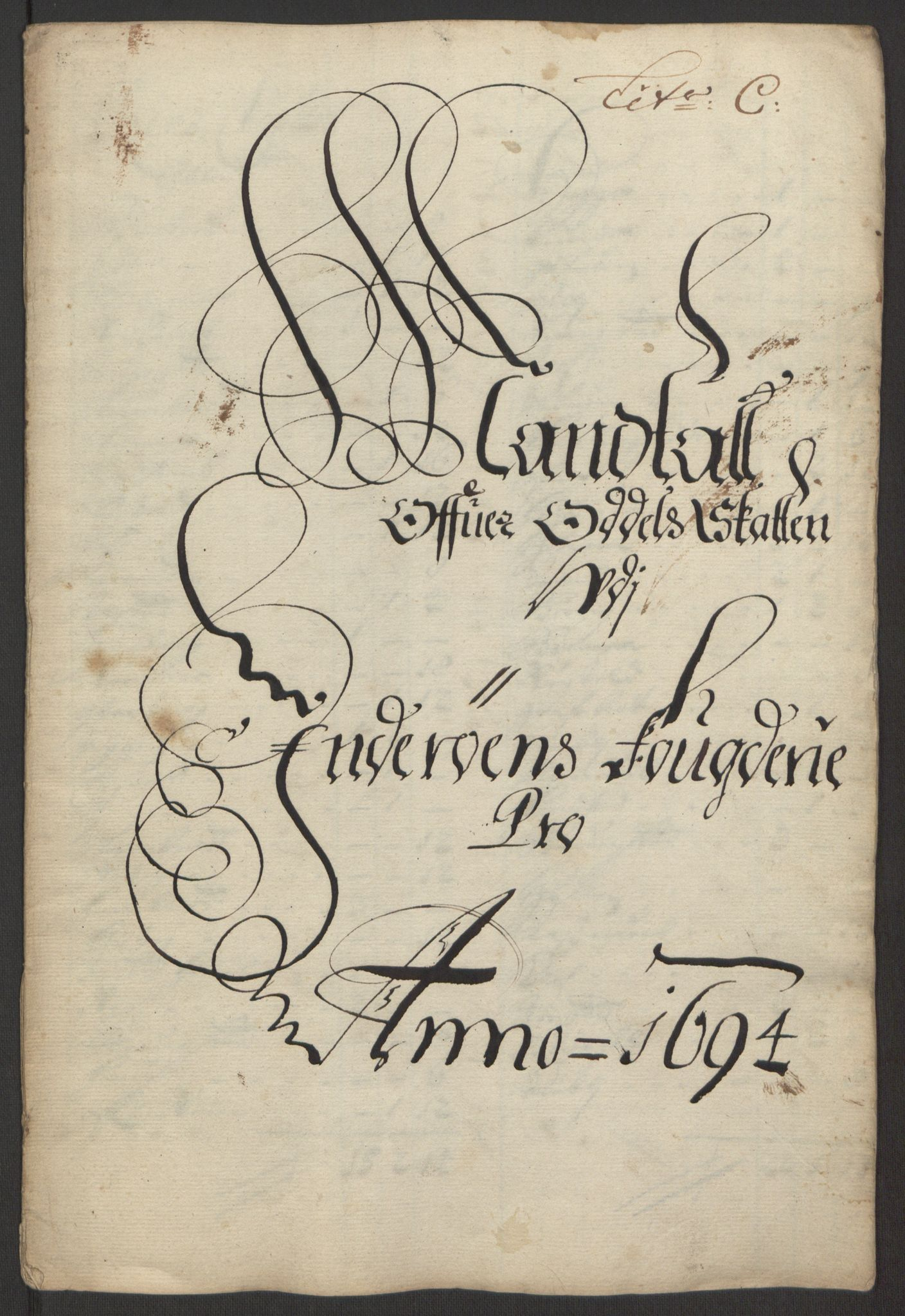 RA, Rentekammeret inntil 1814, Reviderte regnskaper, Fogderegnskap, R63/L4308: Fogderegnskap Inderøy, 1692-1694, s. 538