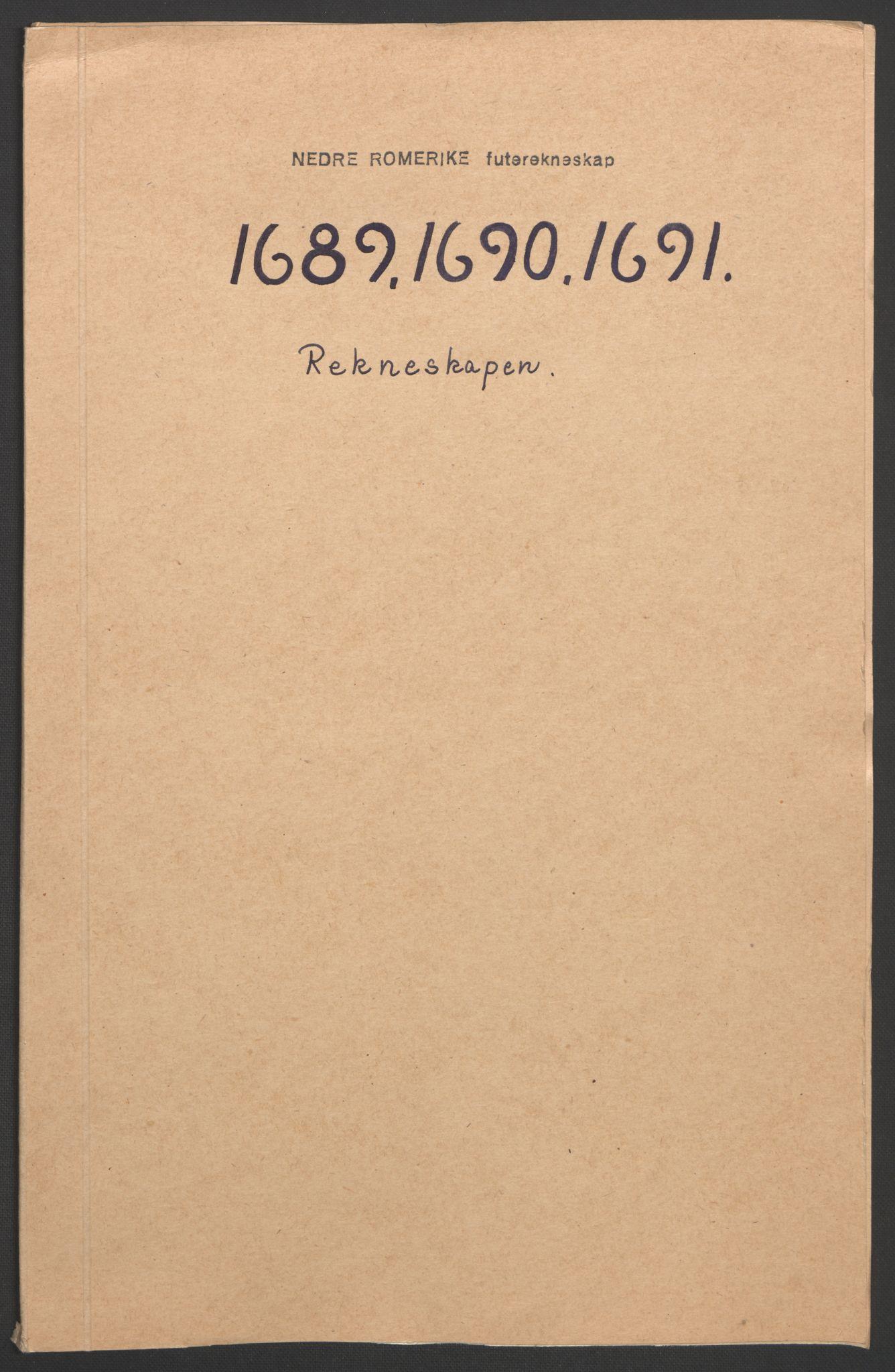 RA, Rentekammeret inntil 1814, Reviderte regnskaper, Fogderegnskap, R11/L0576: Fogderegnskap Nedre Romerike, 1682-1691, s. 3