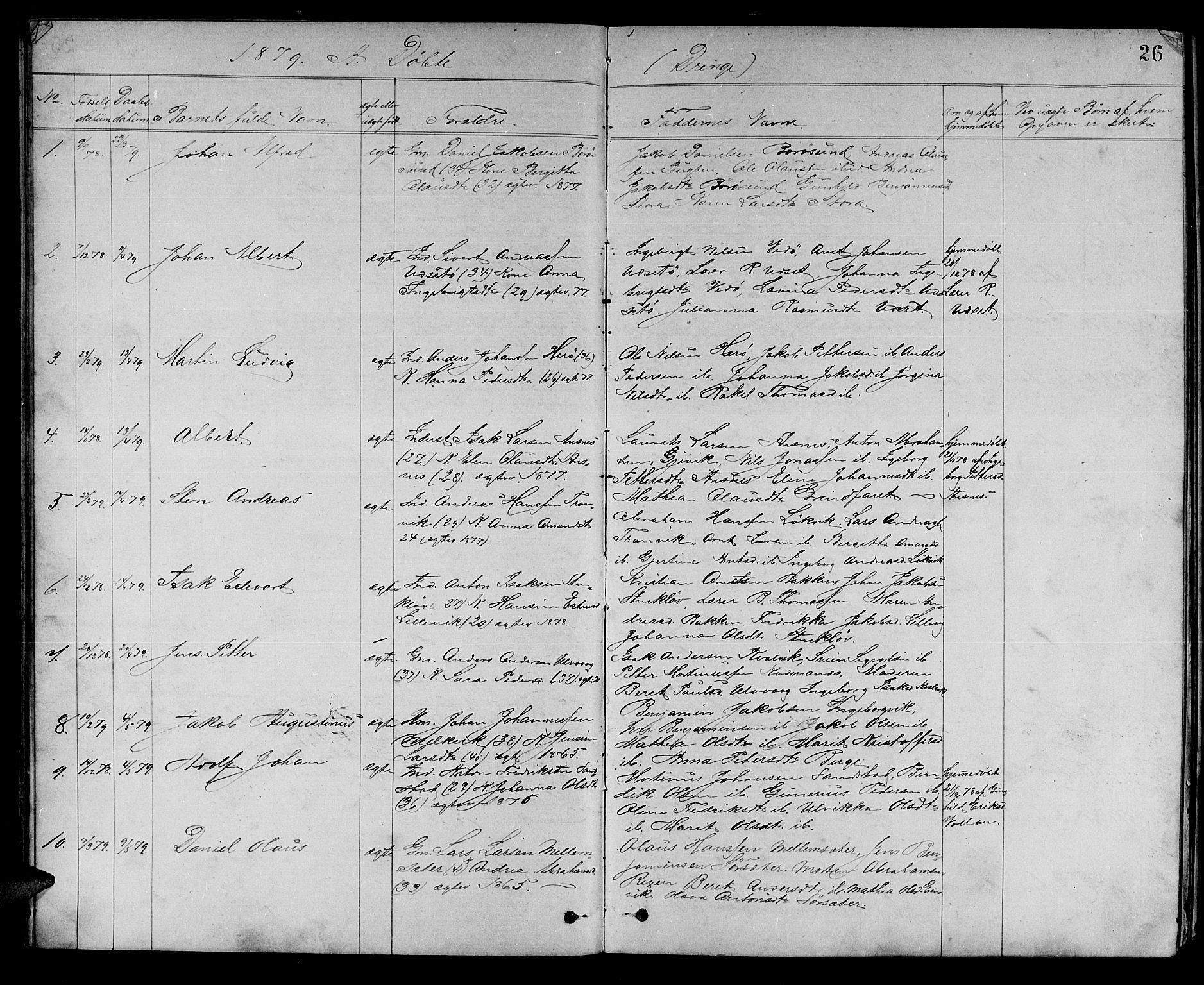 SAT, Ministerialprotokoller, klokkerbøker og fødselsregistre - Sør-Trøndelag, 637/L0561: Klokkerbok nr. 637C02, 1873-1882, s. 26