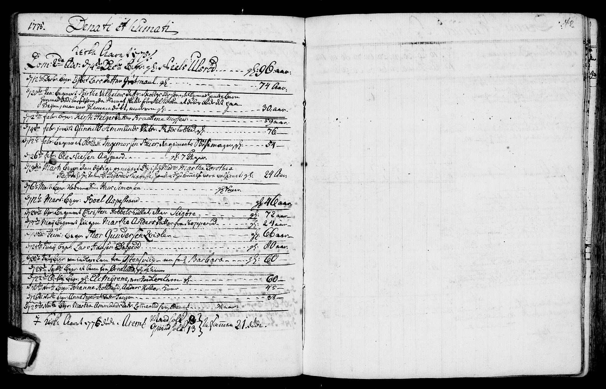 SAO, Aremark prestekontor Kirkebøker, F/Fa/L0003: Ministerialbok nr. I 3, 1745-1795, s. 42