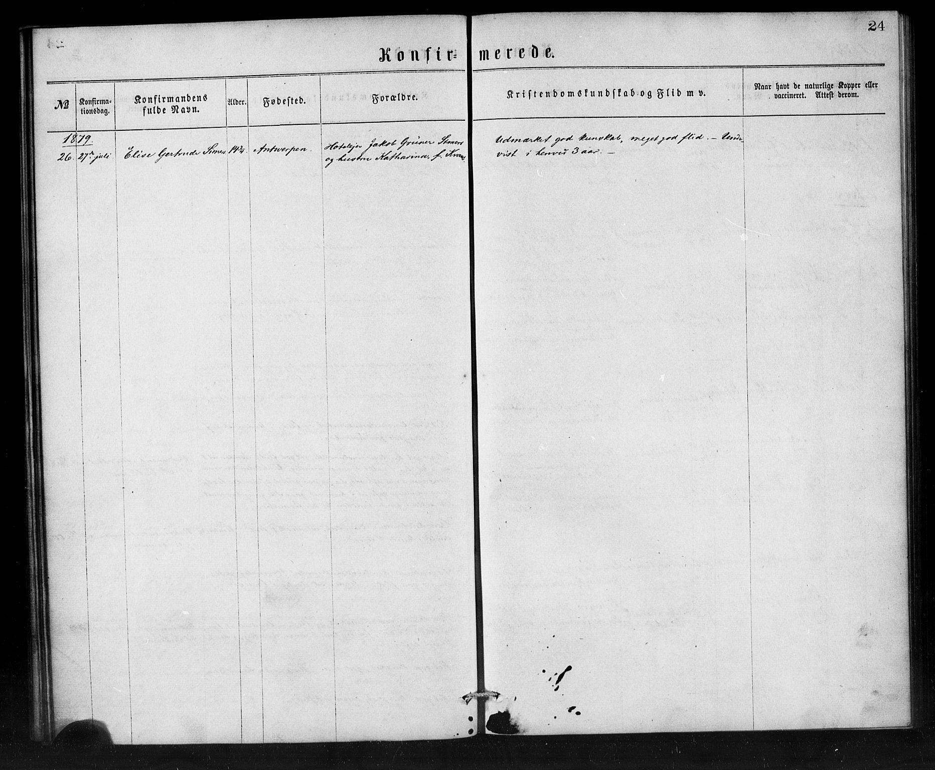 SAB, Den Norske Sjømannsmisjon i utlandet*, Ministerialbok nr. A 1, 1865-1887, s. 24