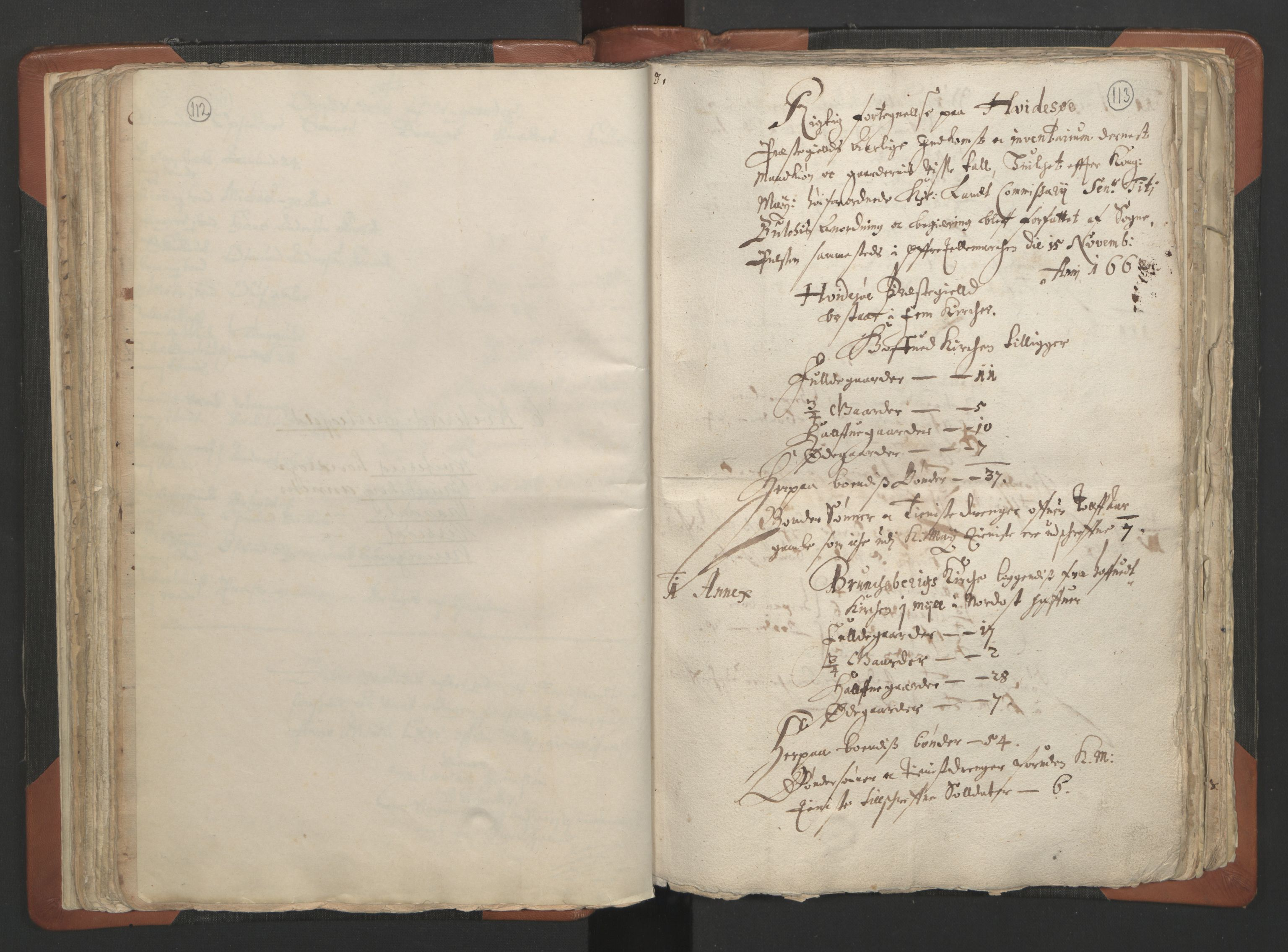 RA, Sogneprestenes manntall 1664-1666, nr. 12: Øvre Telemark prosti, Nedre Telemark prosti og Bamble prosti, 1664-1666, s. 112-113