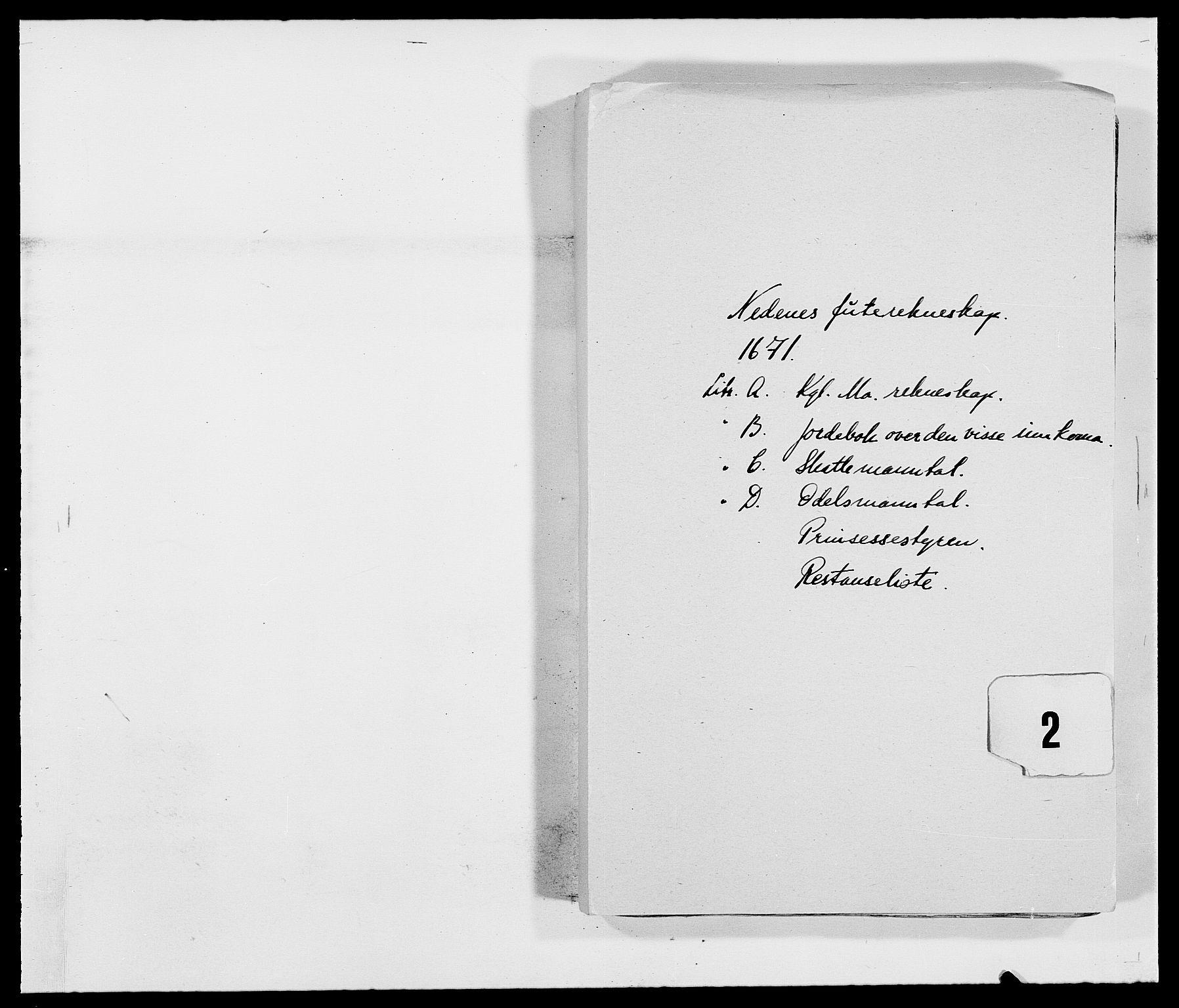 RA, Rentekammeret inntil 1814, Reviderte regnskaper, Fogderegnskap, R39/L2299: Fogderegnskap Nedenes, 1670-1671, s. 160