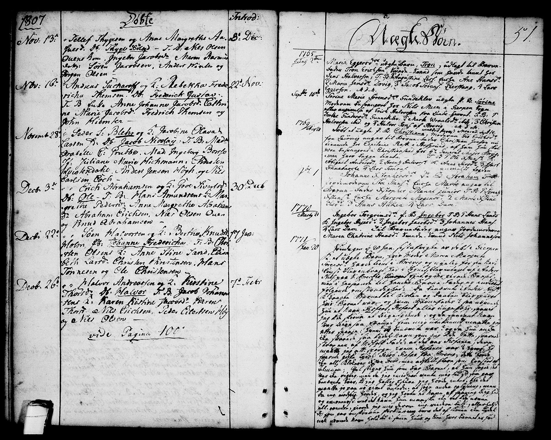 SAKO, Brevik kirkebøker, F/Fa/L0003: Ministerialbok nr. 3, 1764-1814, s. 51
