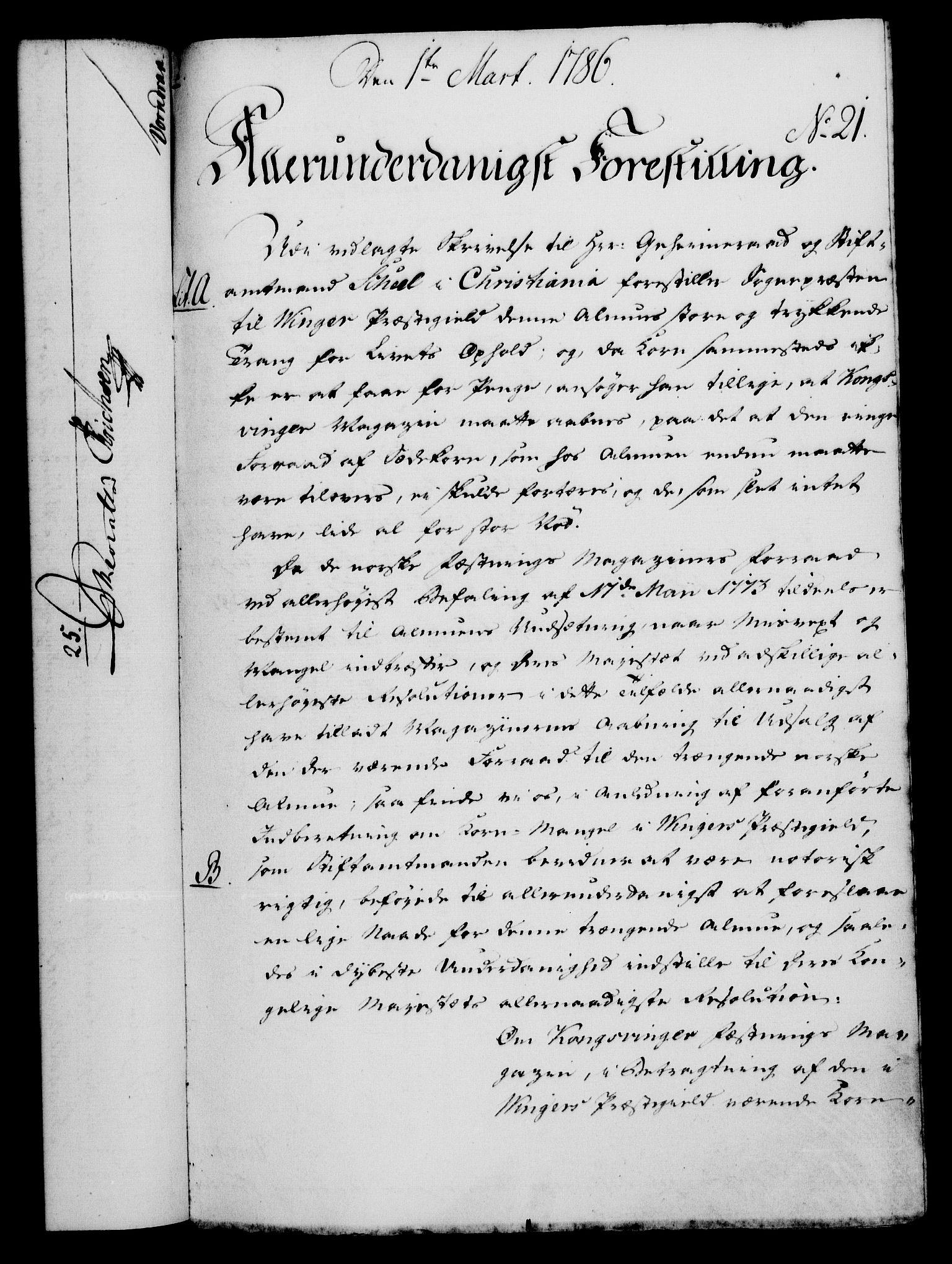 RA, Rentekammeret, Kammerkanselliet, G/Gf/Gfa/L0068: Norsk relasjons- og resolusjonsprotokoll (merket RK 52.68), 1786, s. 183