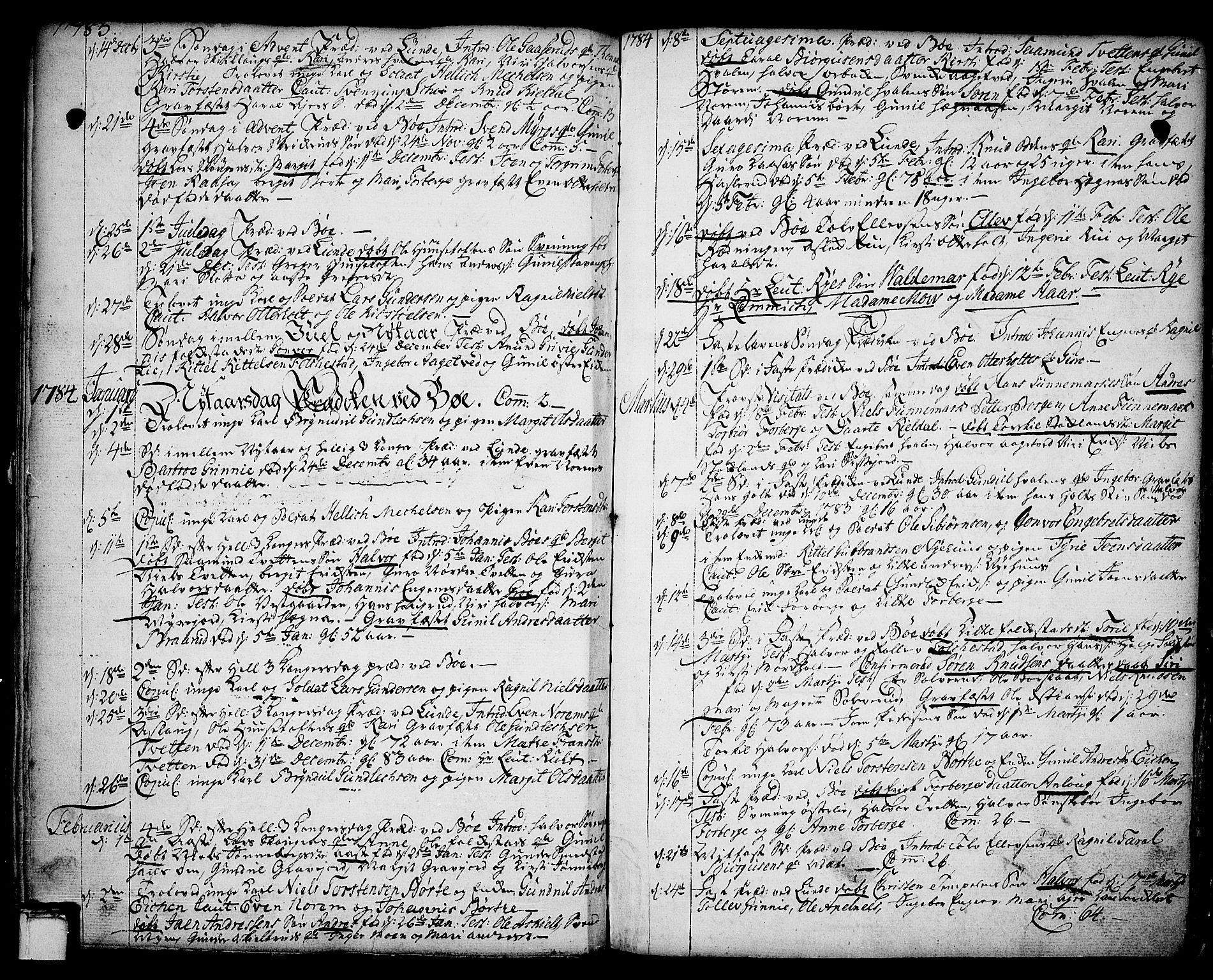 SAKO, Bø kirkebøker, F/Fa/L0004: Ministerialbok nr. 4, 1748-1785