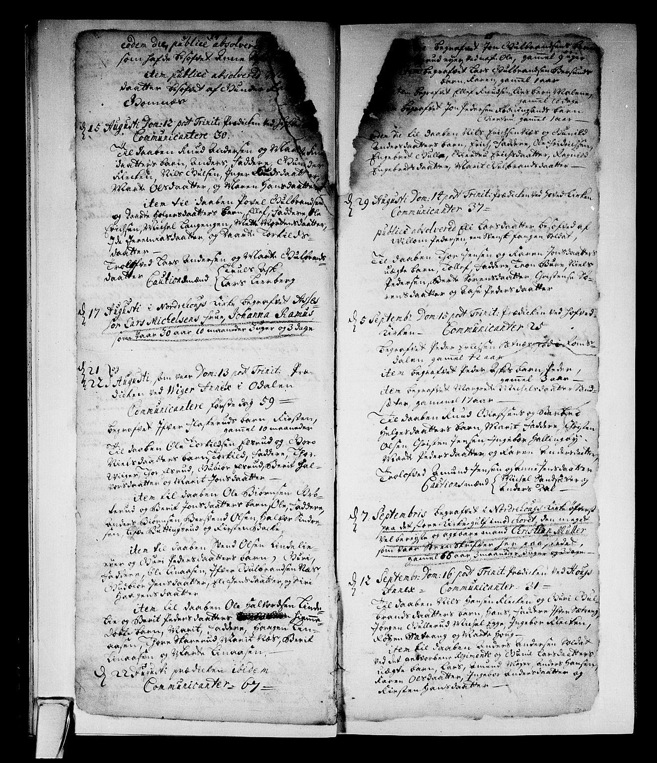SAKO, Norderhov kirkebøker, F/Fa/L0002a: Ministerialbok nr. 2A, 1716-1725, s. 24-25