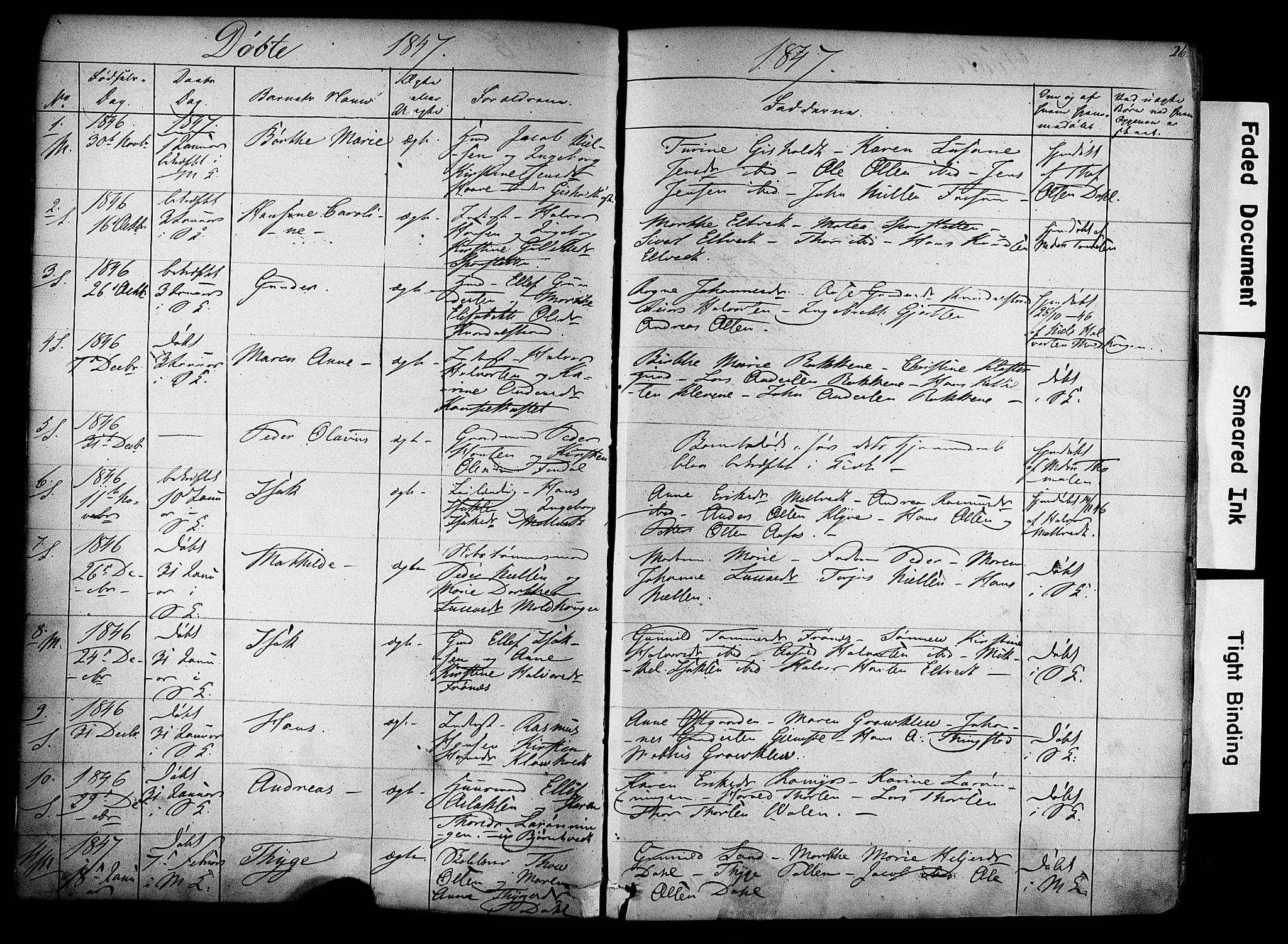 SAKO, Solum kirkebøker, F/Fa/L0006: Ministerialbok nr. I 6, 1844-1855, s. 26