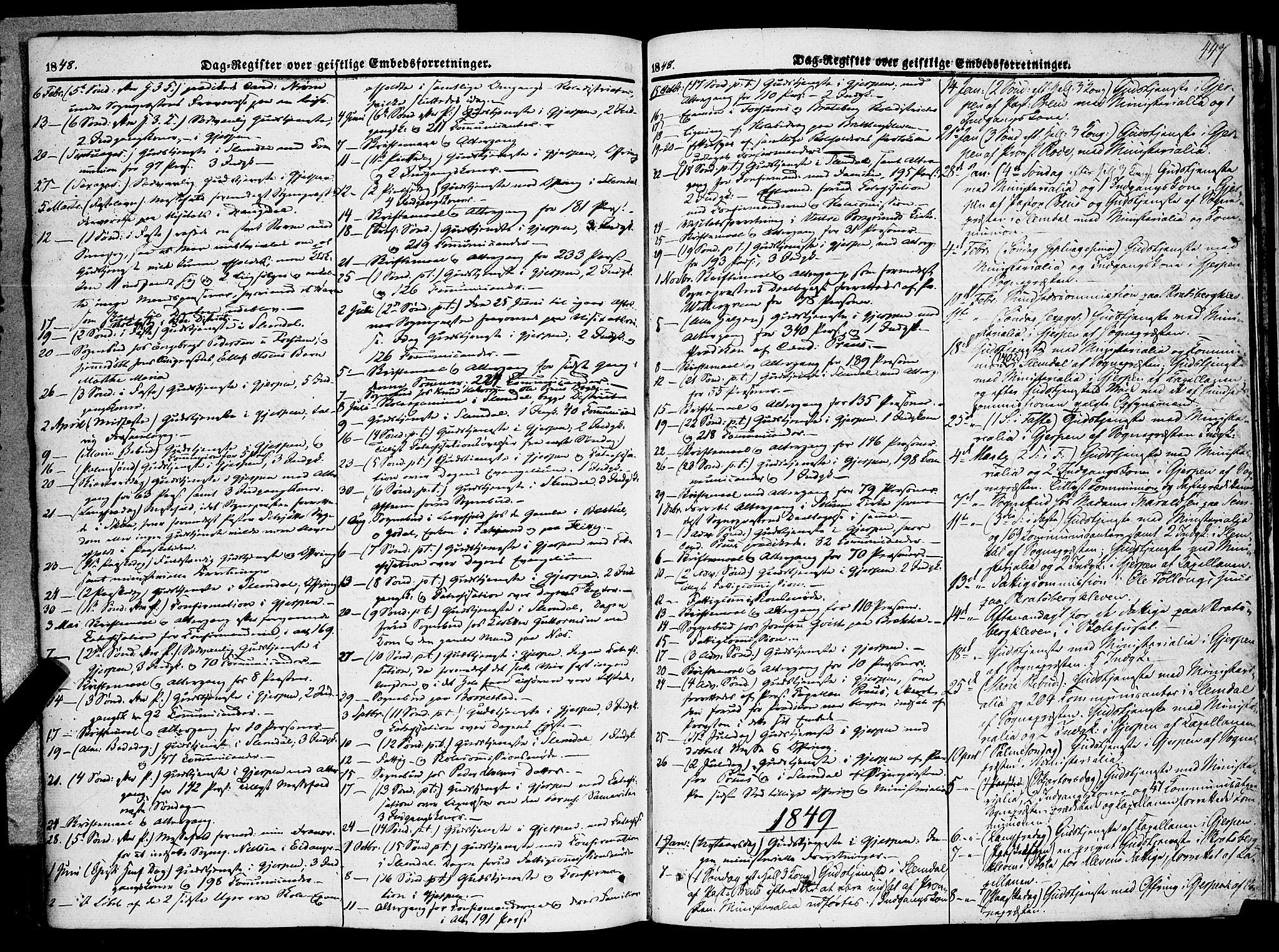 SAKO, Gjerpen kirkebøker, F/Fa/L0007b: Ministerialbok nr. 7B, 1834-1857, s. 447