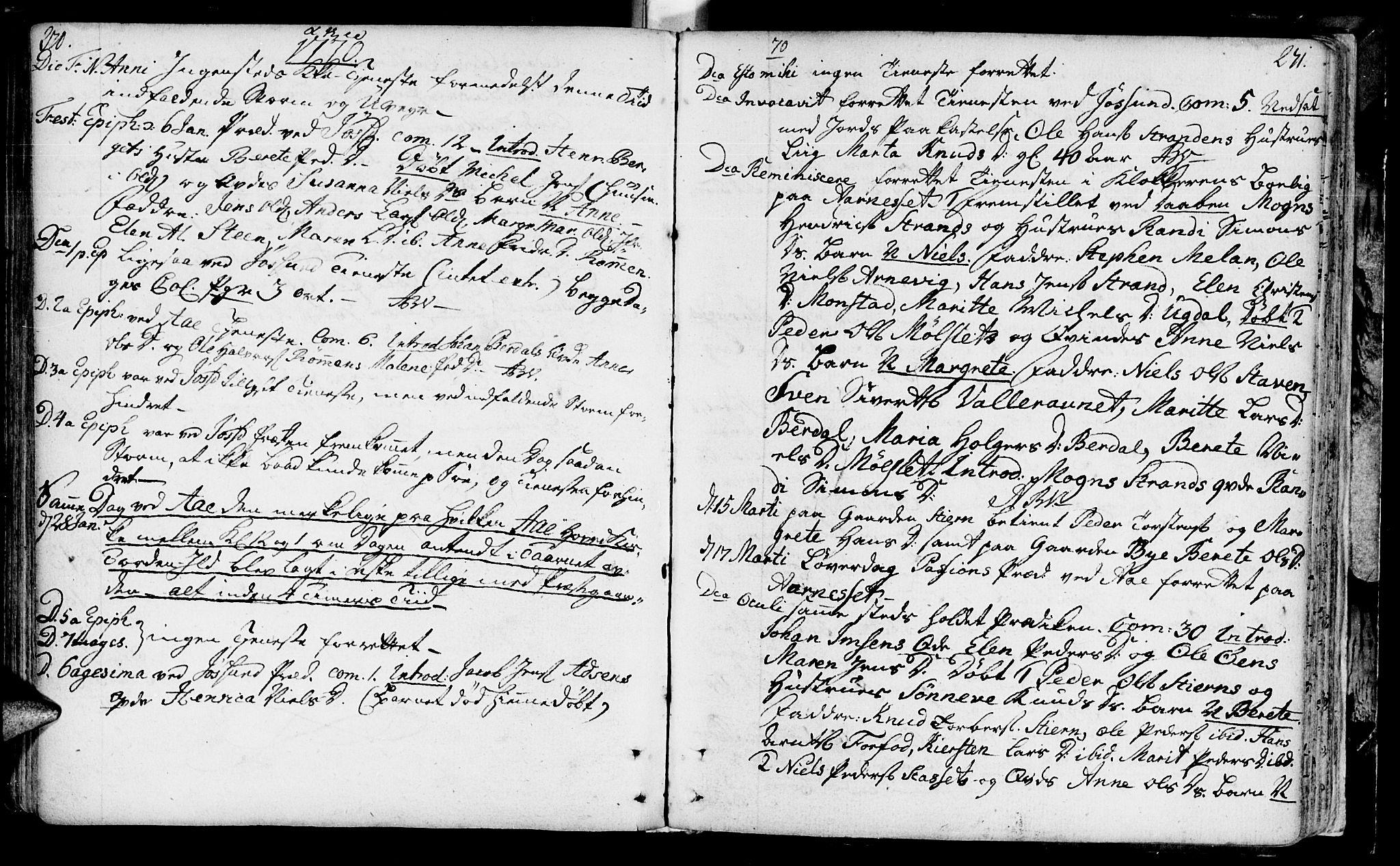 SAT, Ministerialprotokoller, klokkerbøker og fødselsregistre - Sør-Trøndelag, 655/L0672: Ministerialbok nr. 655A01, 1750-1779, s. 270-271