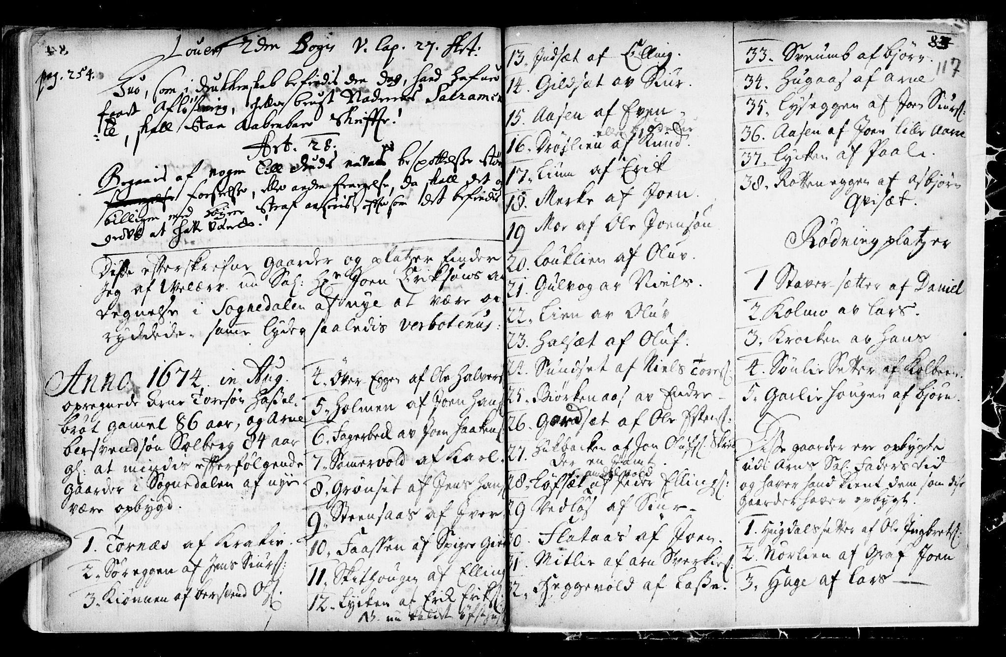 SAT, Ministerialprotokoller, klokkerbøker og fødselsregistre - Sør-Trøndelag, 689/L1036: Ministerialbok nr. 689A01, 1696-1746, s. 117